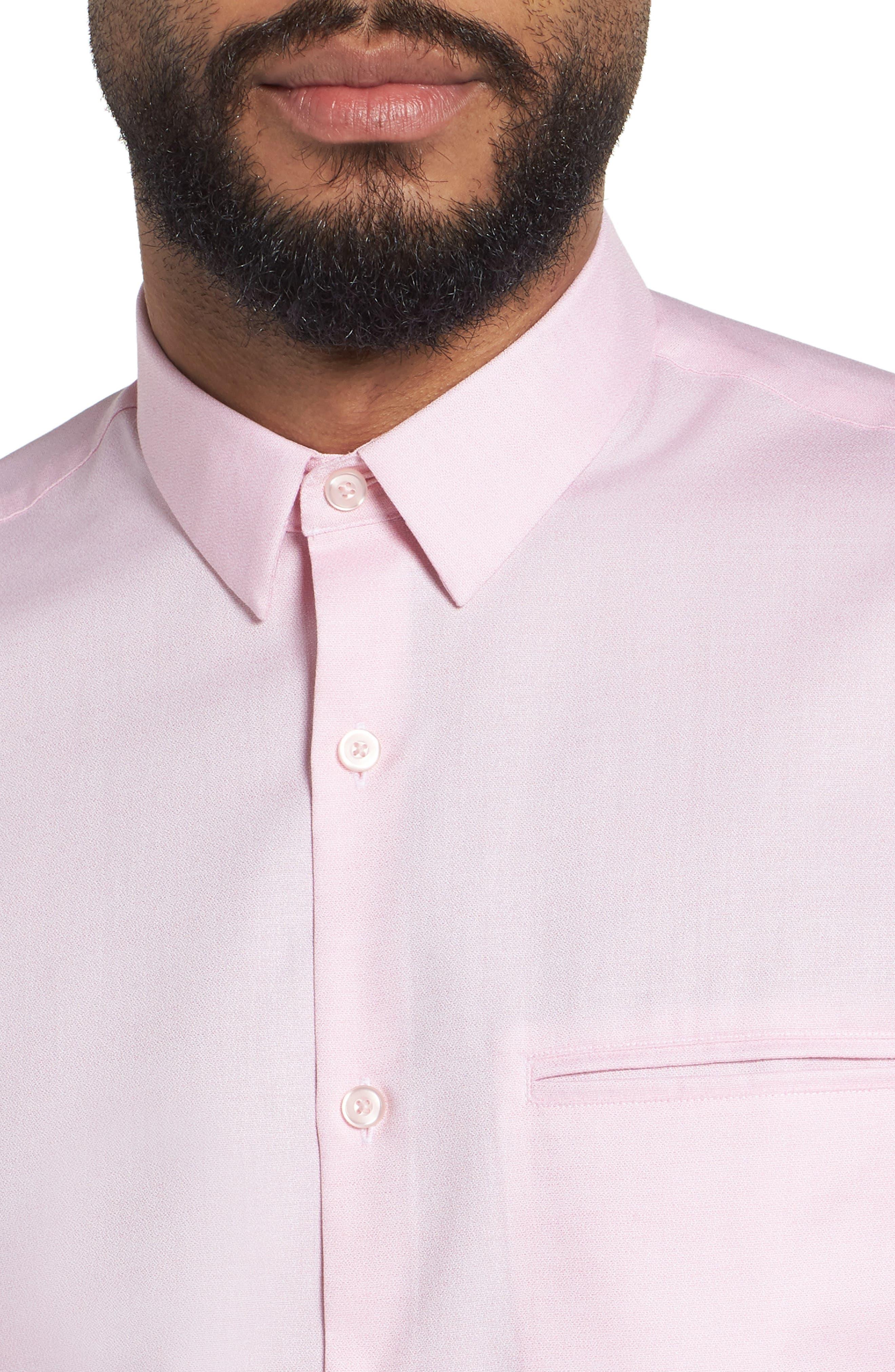 Trim Fit Jaspé Short Sleeve Sport Shirt,                             Alternate thumbnail 12, color,