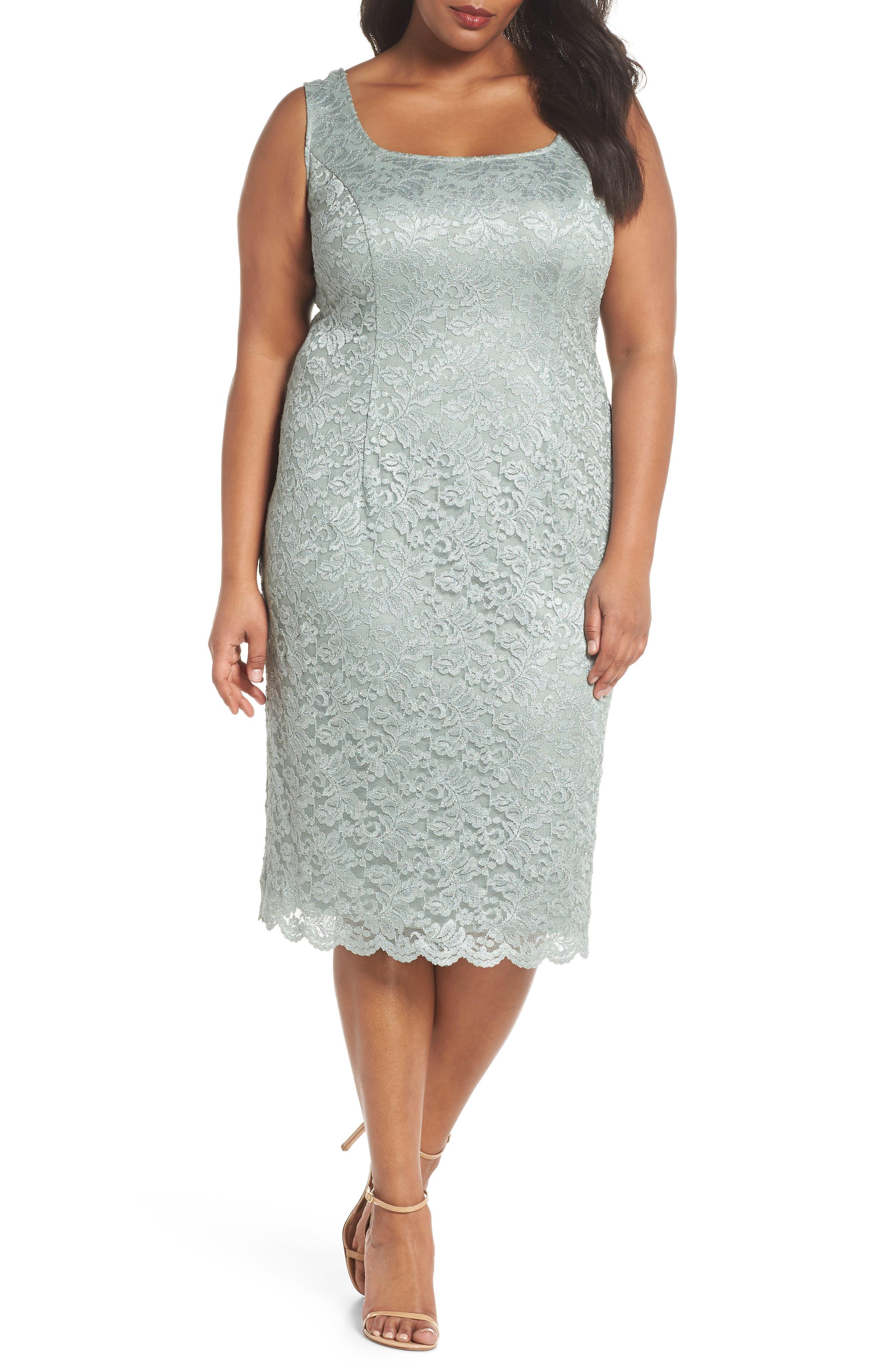 Lace Sheath Dress & Jacket,                             Alternate thumbnail 3, color,                             357