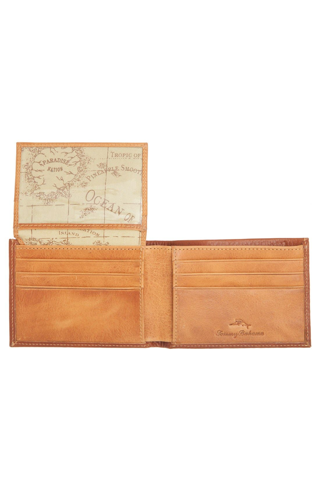 Leather L-Fold Wallet,                             Alternate thumbnail 3, color,
