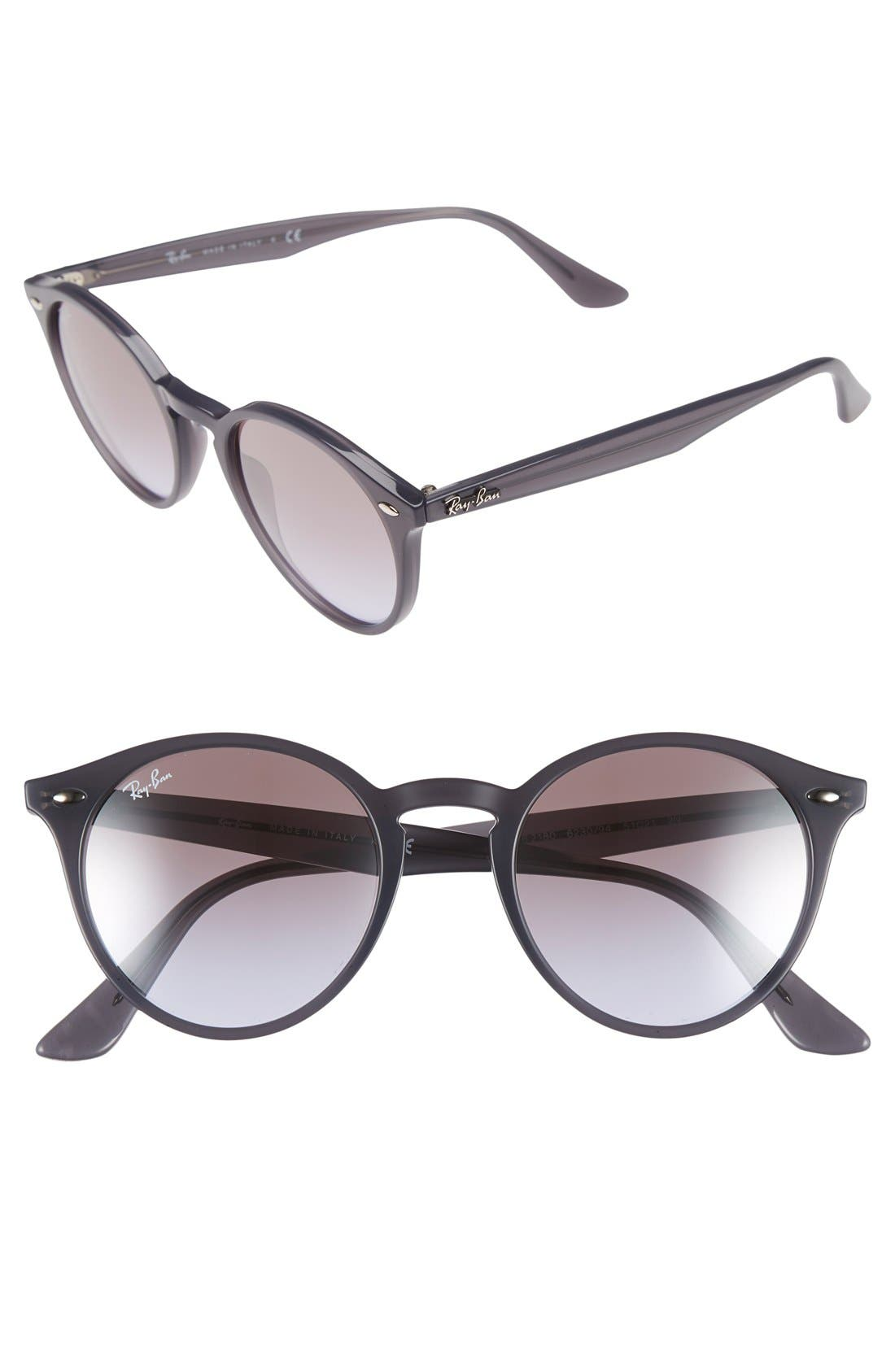 Highstreet 51mm Round Sunglasses,                             Main thumbnail 2, color,