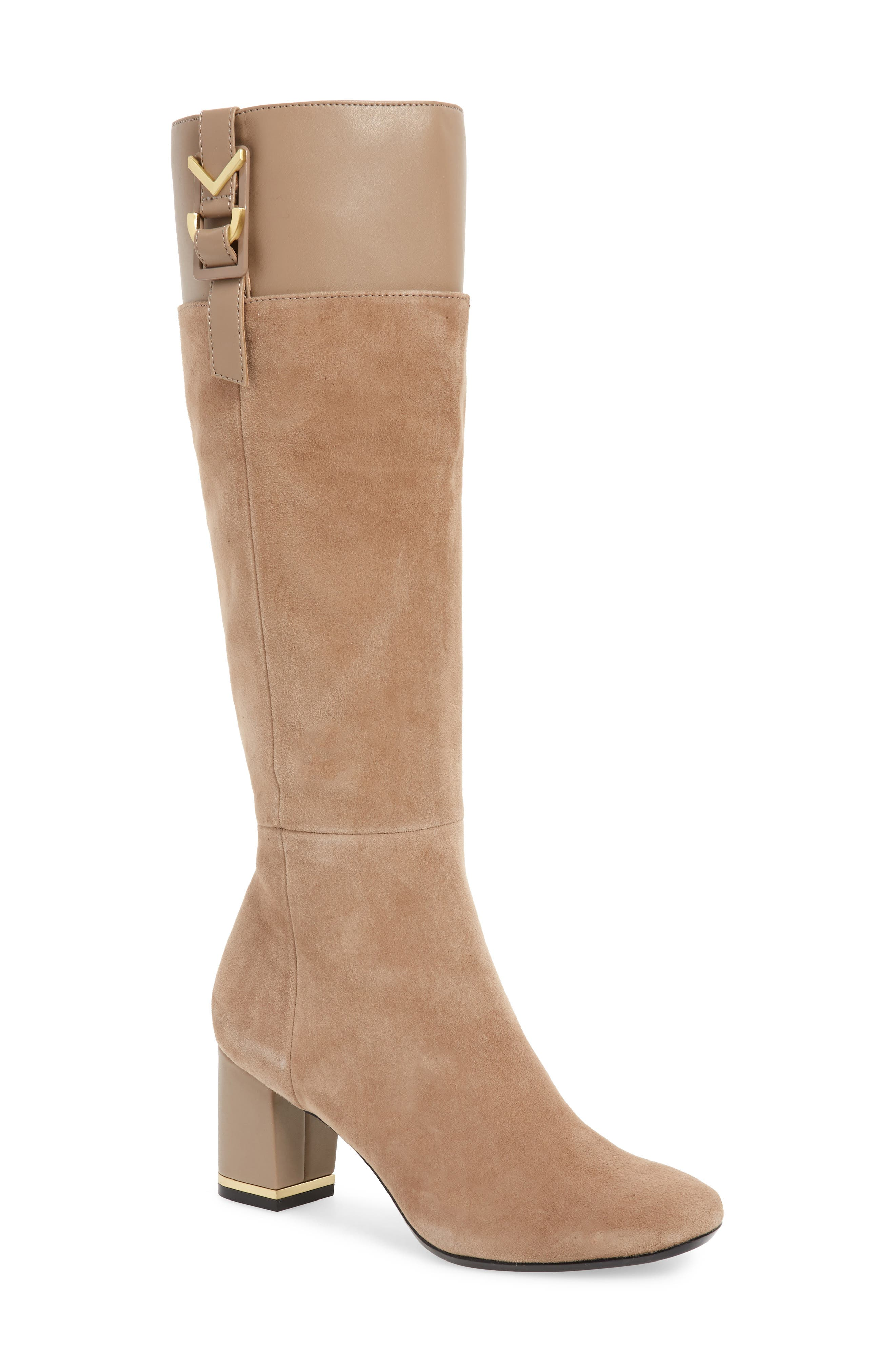 Calvin Klein Candace Knee High Boot, Brown