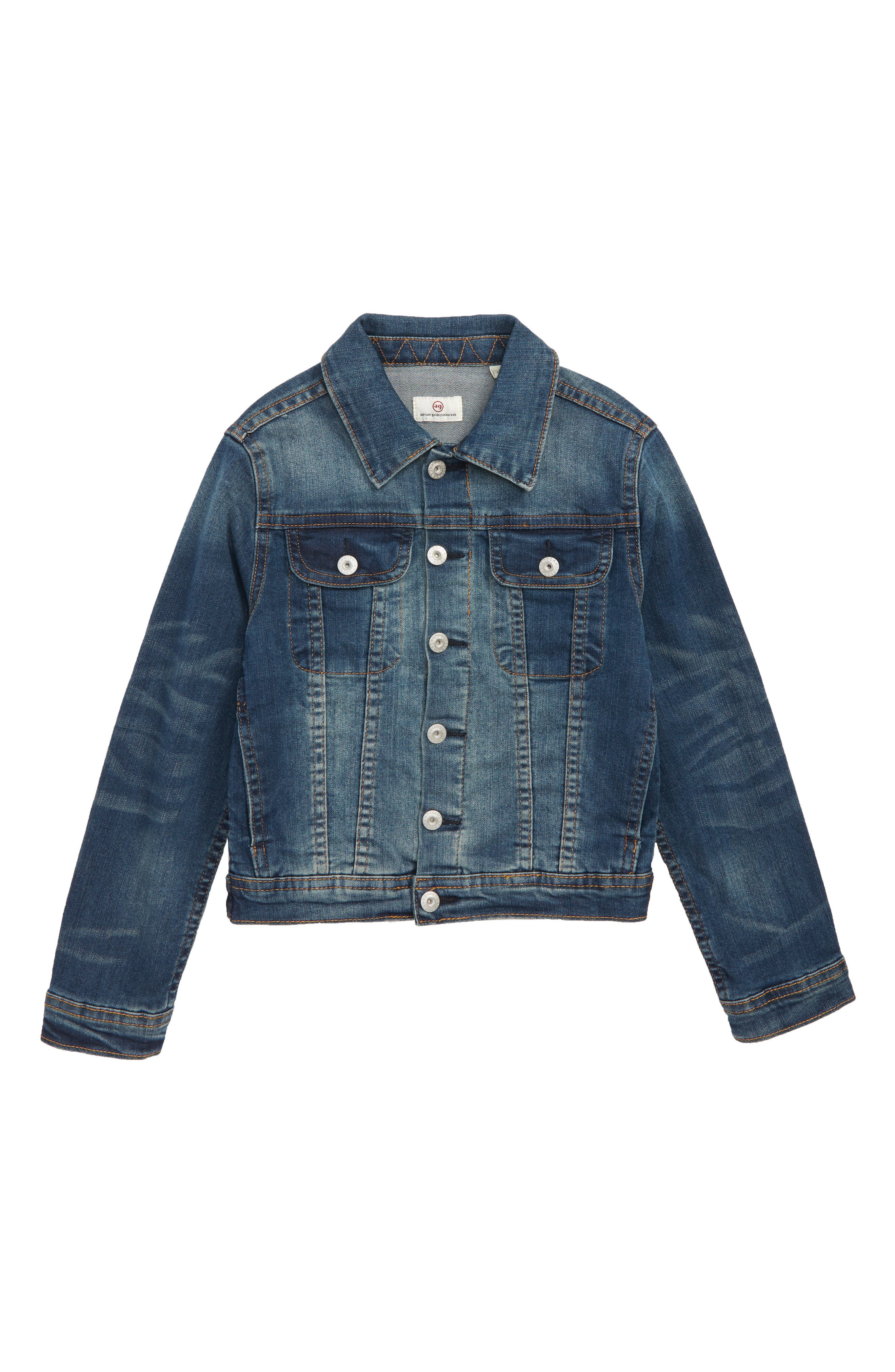 Denim Jacket,                         Main,                         color, RINSE USED