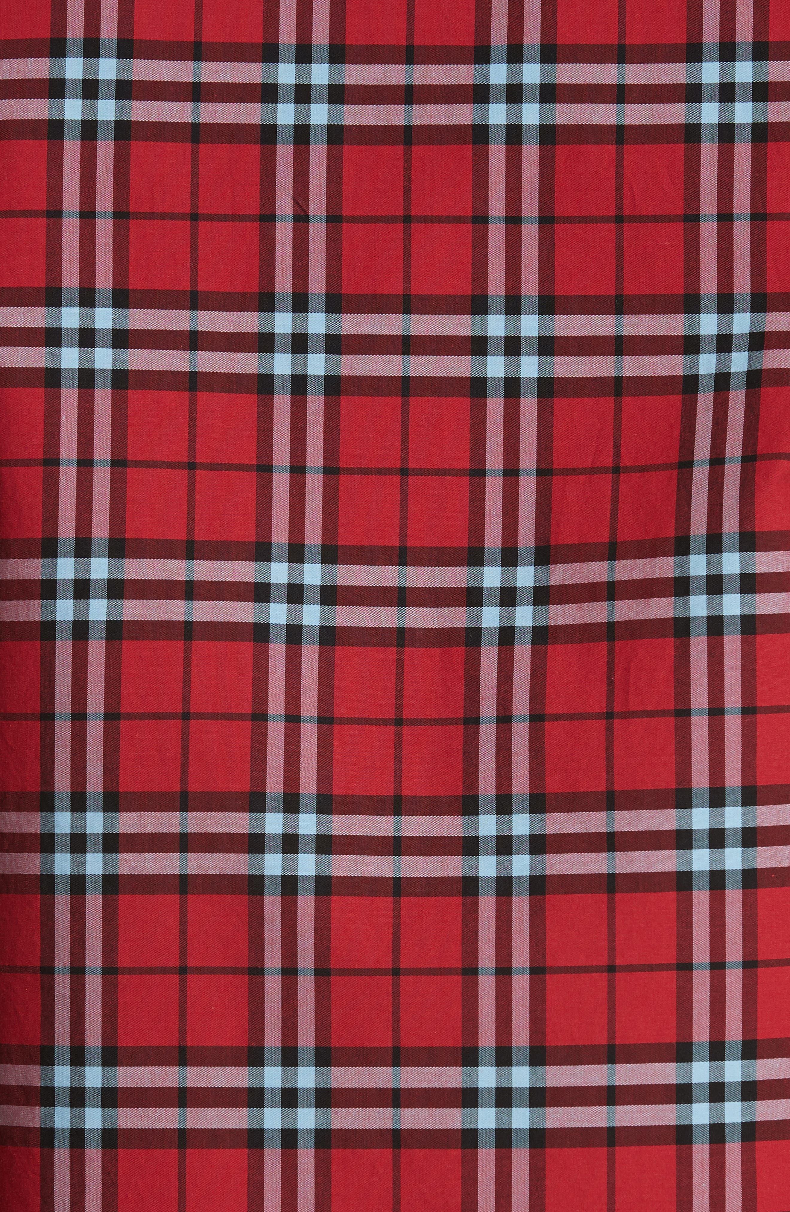 Alexander Check Sport Shirt,                             Alternate thumbnail 5, color,                             BRIGHT RED