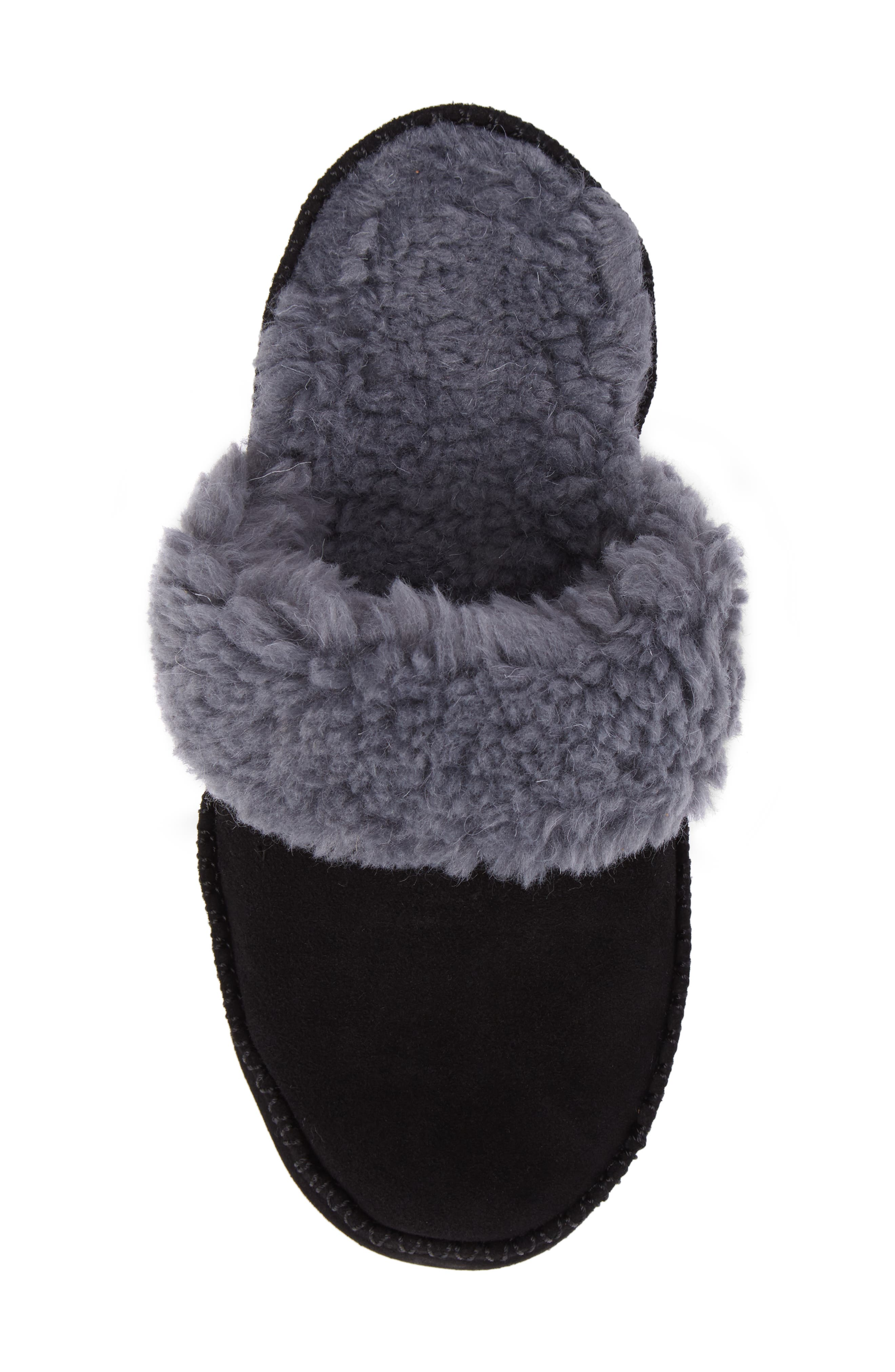 VIONIC,                             Marley Faux Fur Slipper,                             Alternate thumbnail 5, color,                             BLACK SUEDE