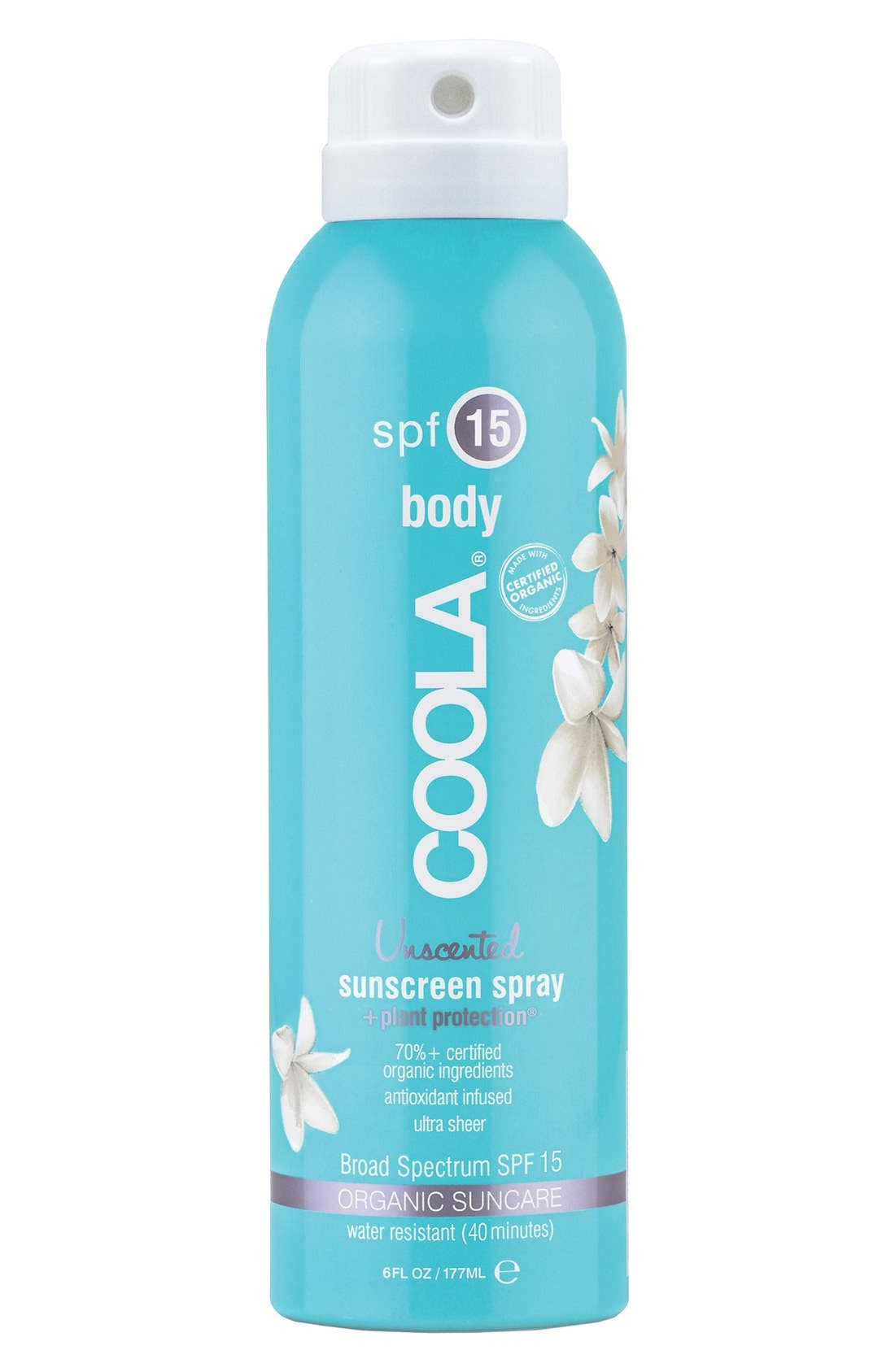 COOLA<sup>®</sup> Suncare 'Unscented' Sport Sunscreen Spray SPF 15,                         Main,                         color, 000