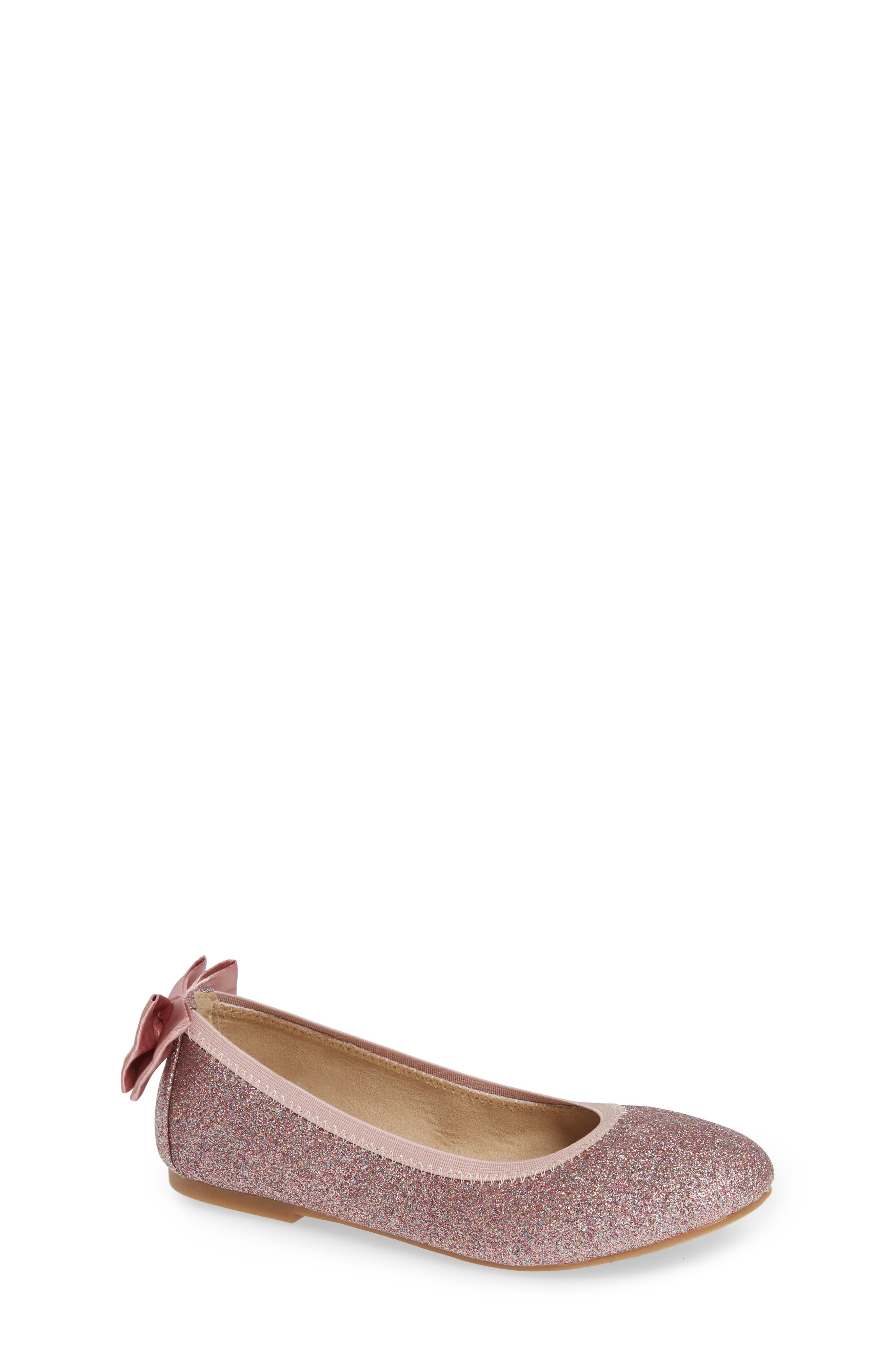 Toddler Girls Sam Edelman Felicia Esmerelda Glitter Ballet Flat Size 12 M  Pink