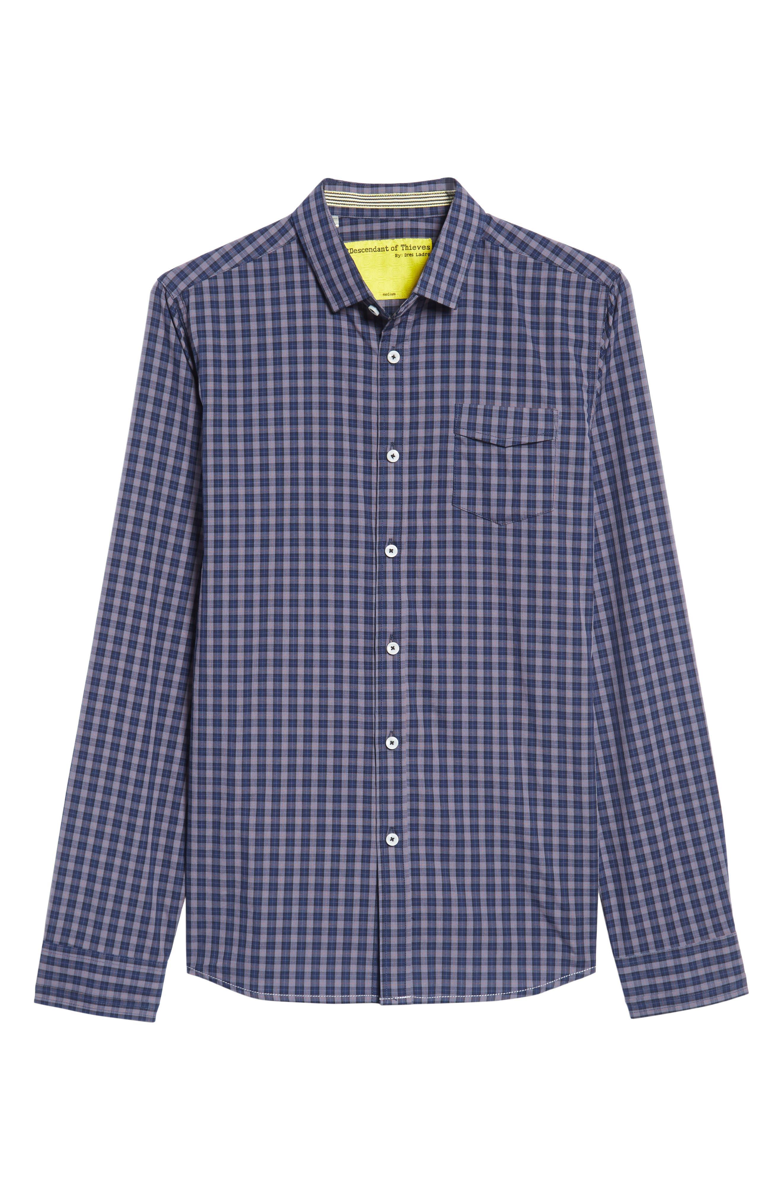 Tinto Plaid Sport Shirt,                             Alternate thumbnail 6, color,                             400