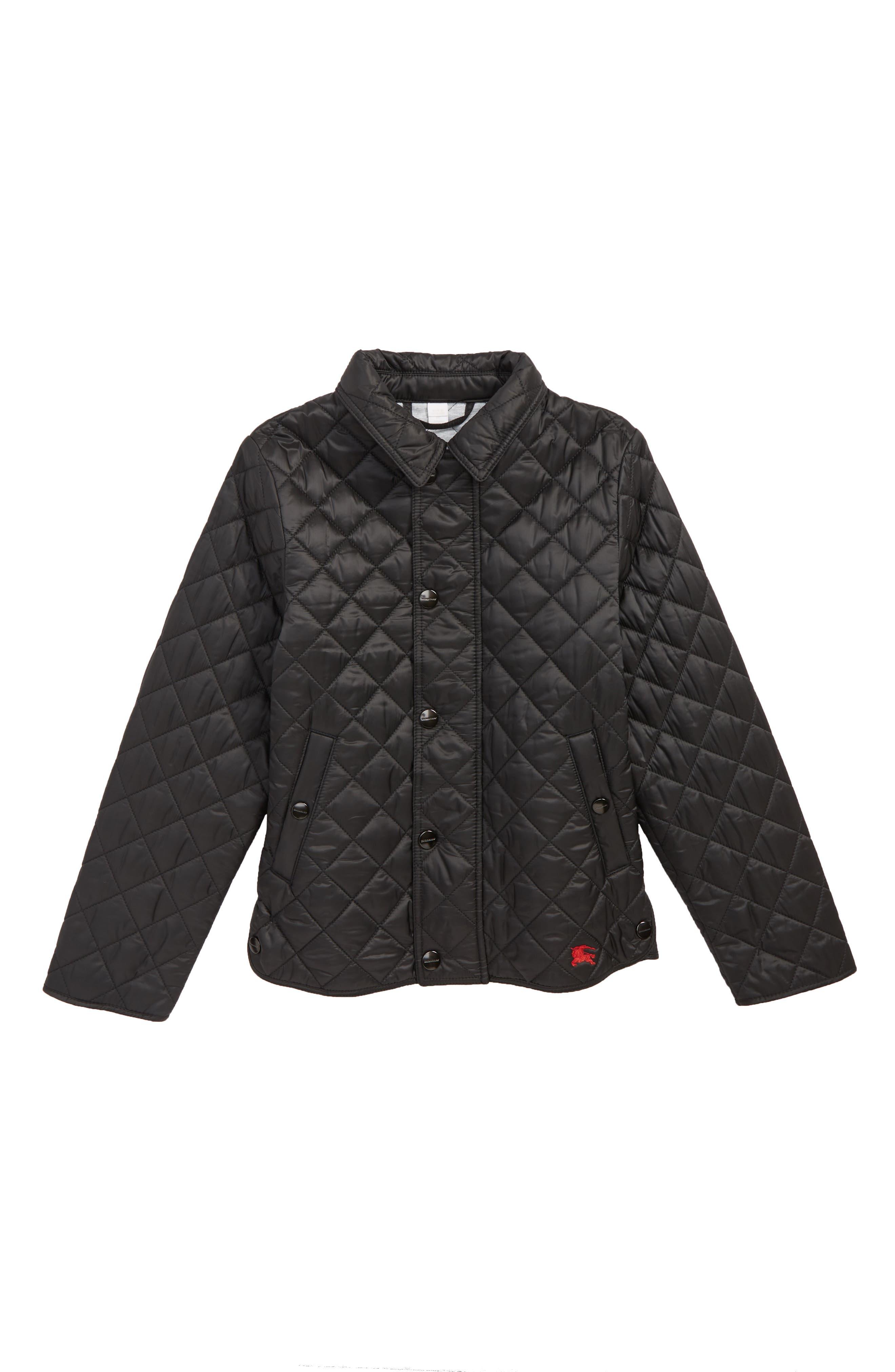 Lyle Diamond Quilted Jacket,                             Main thumbnail 1, color,                             BLACK