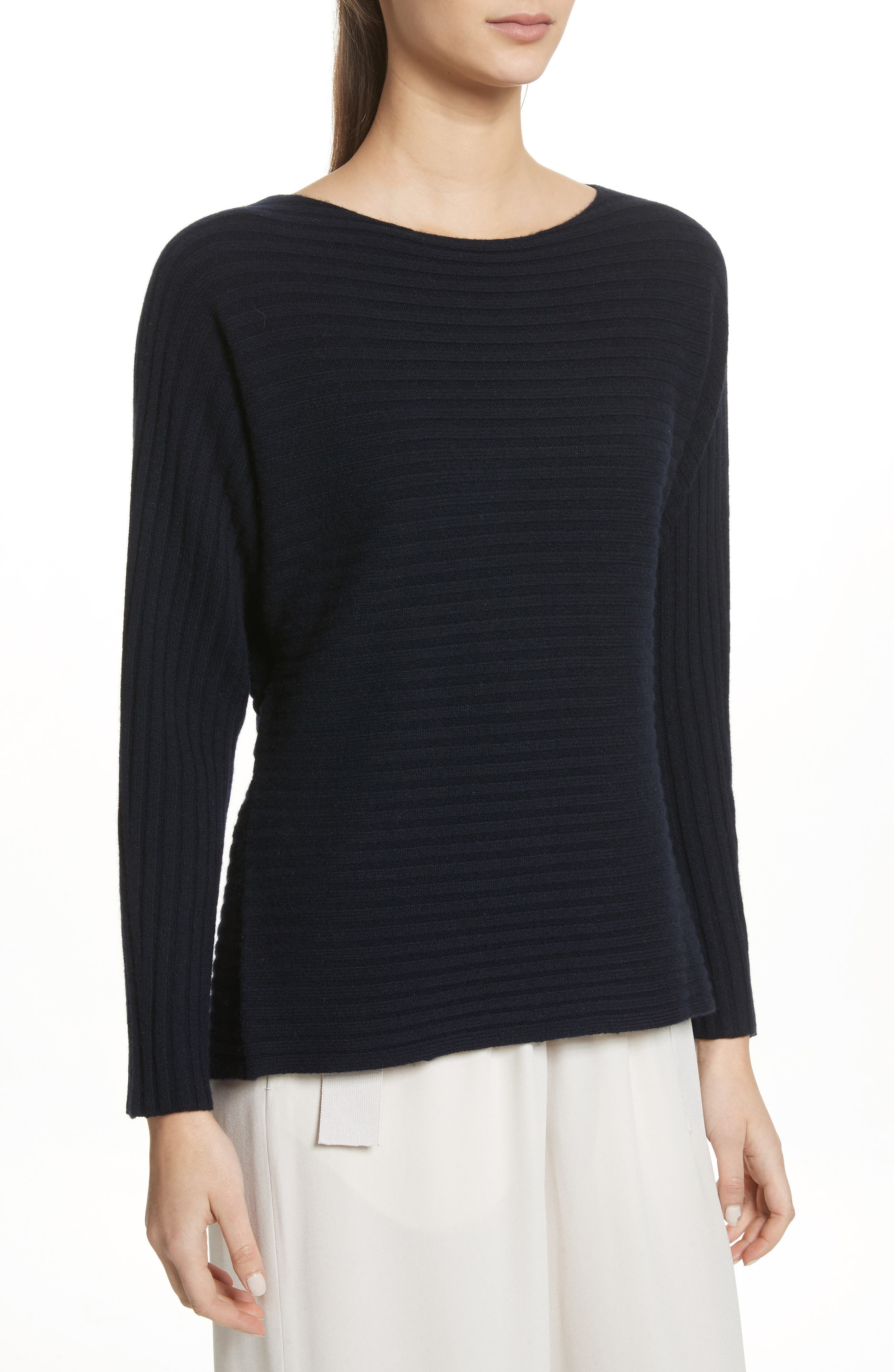 Tie Back Wool & Cashmere Sweater,                         Main,                         color,