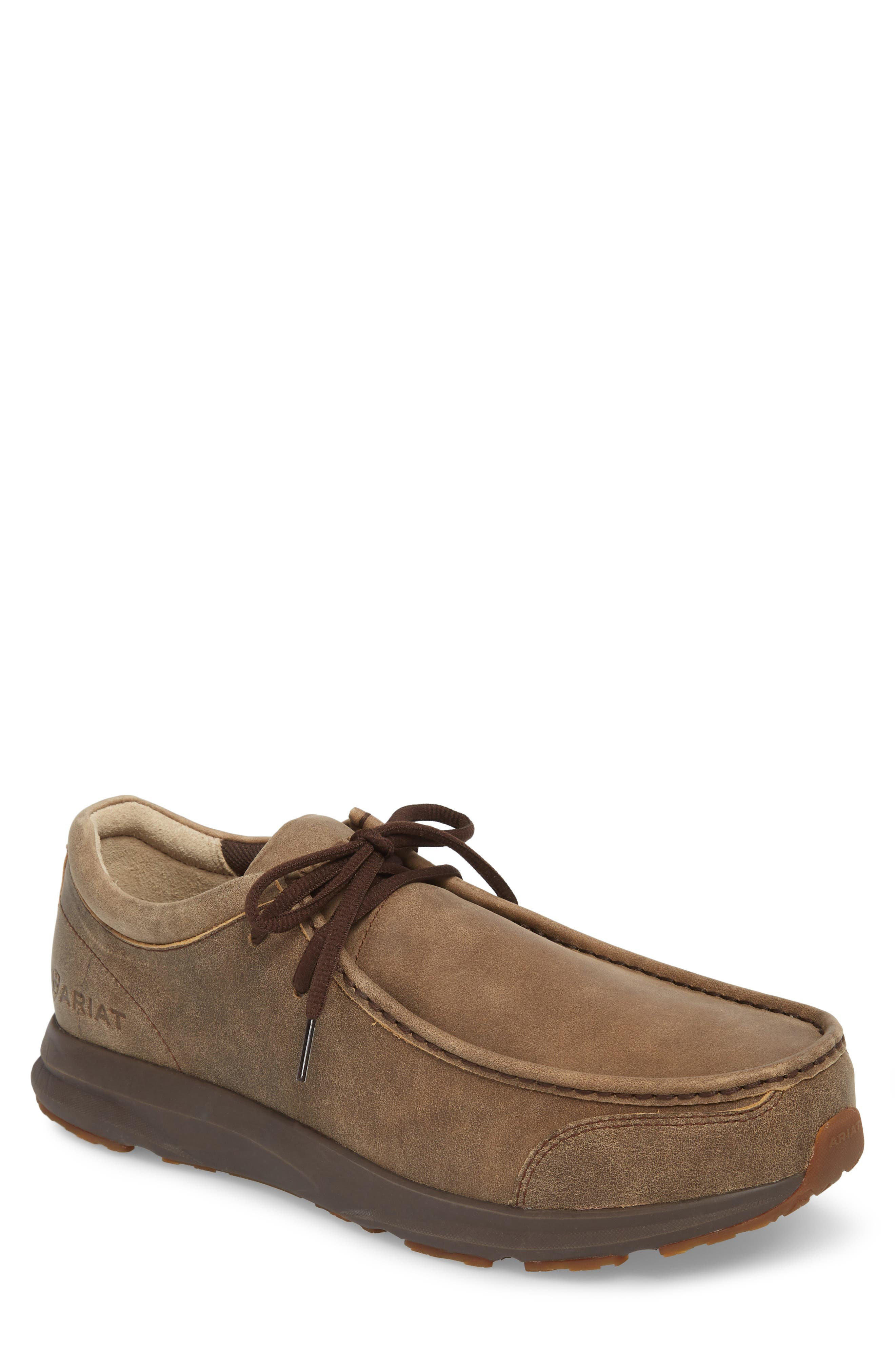 Spitfire Moc Toe Lace-Up,                             Main thumbnail 1, color,                             BROWN LEATHER