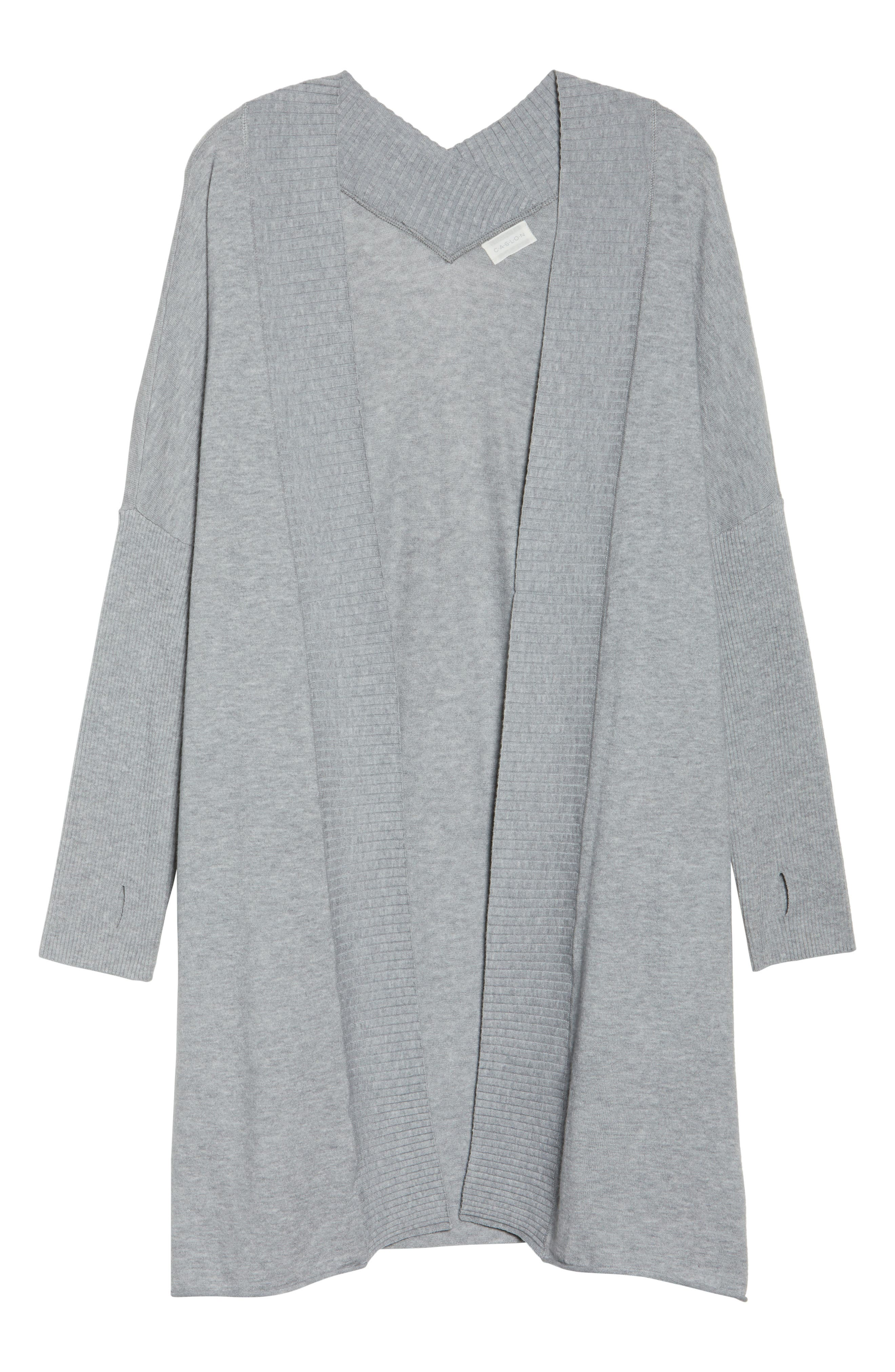 Off-Duty Long Open Front Cardigan,                             Alternate thumbnail 17, color,
