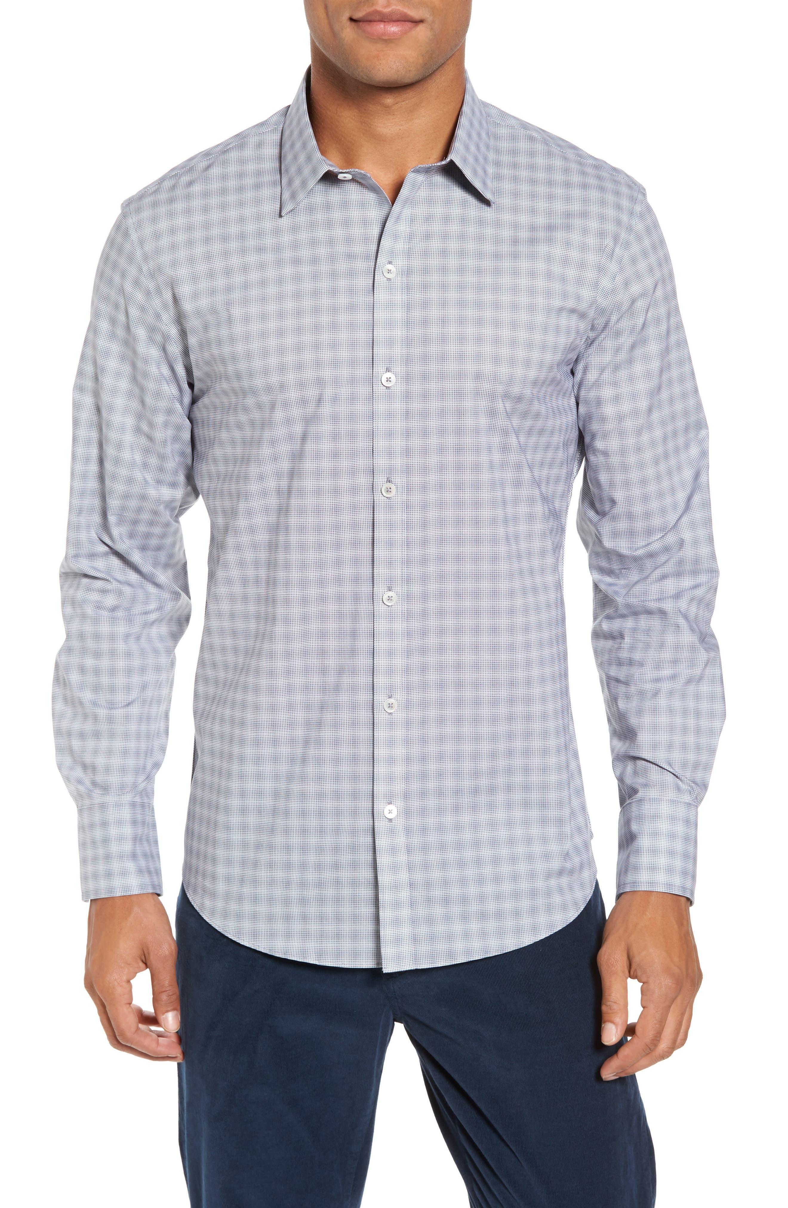 MacDonald Slim Fit Check Sport Shirt,                             Main thumbnail 1, color,                             050