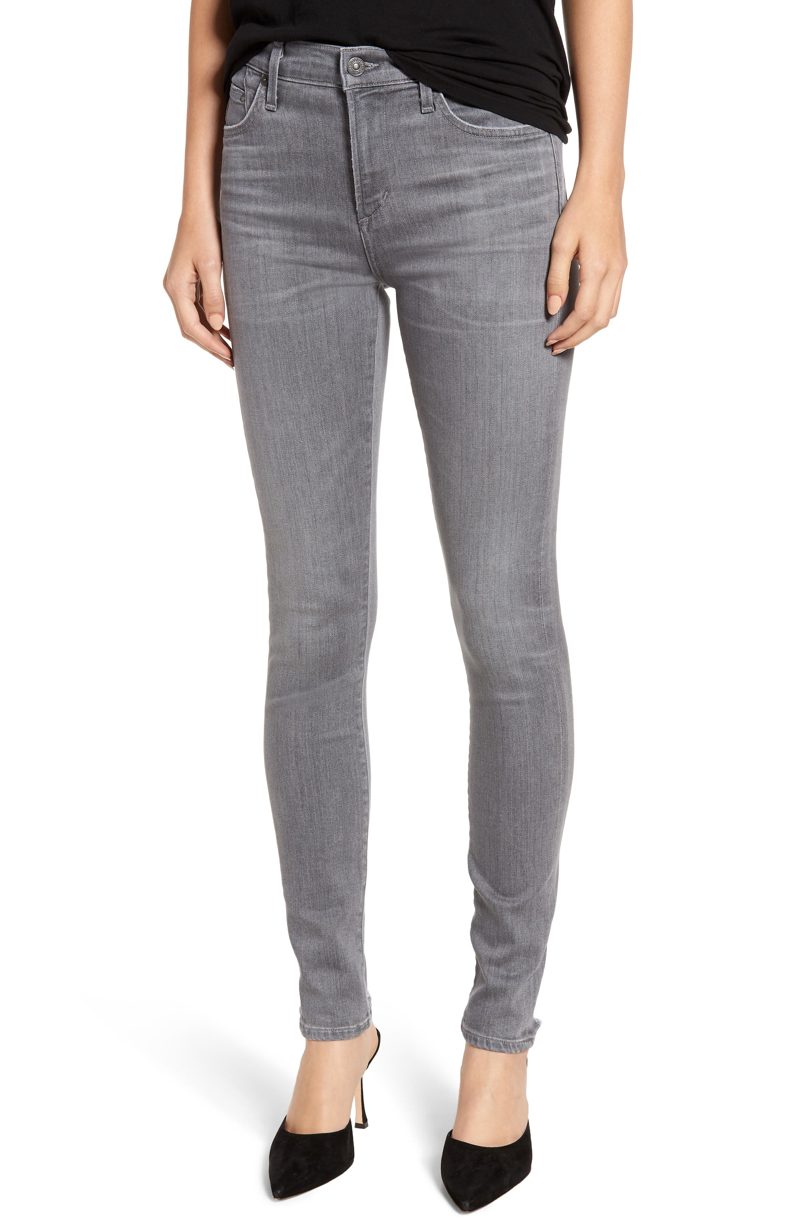 CITIZENS OF HUMANITY Rocket High Waist Skinny Jeans, Main, color, STATUETTE