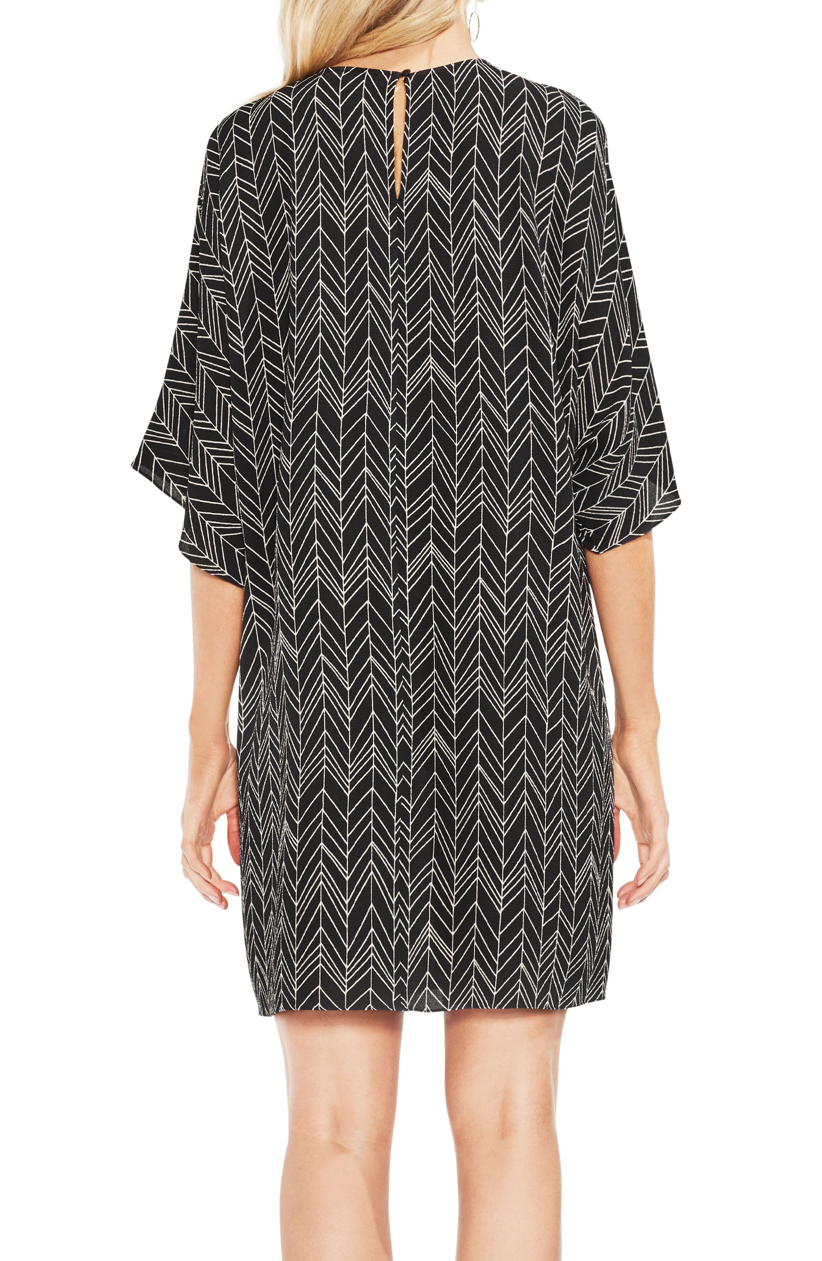 Herringbone Graphic Dress,                             Alternate thumbnail 2, color,                             001