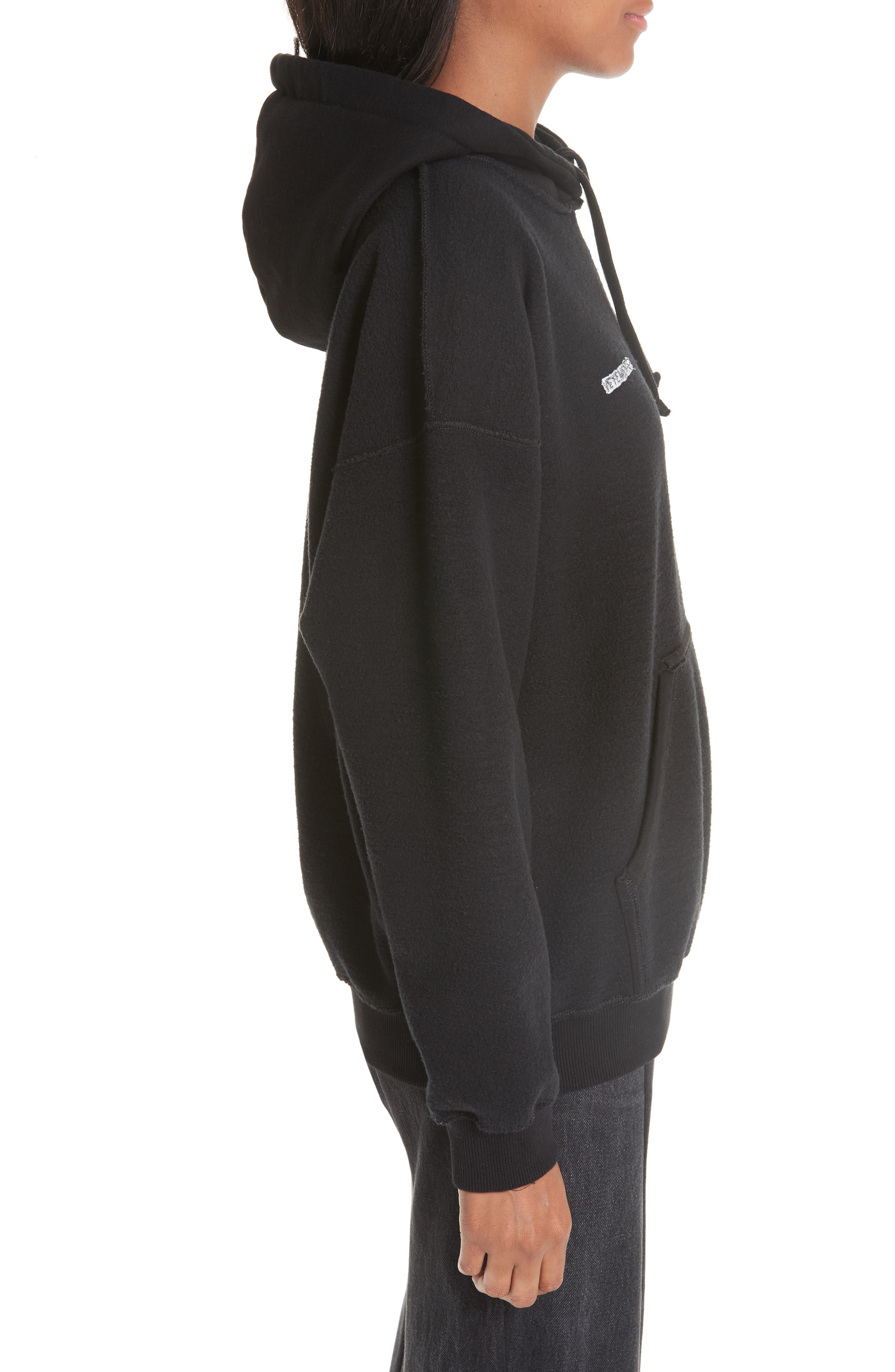 Inside-Out Hoodie,                             Alternate thumbnail 3, color,                             BLACK