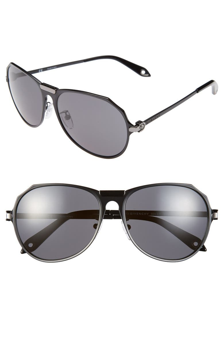 35337341d74 Givenchy Metal Aviator 57mm Sunglasses