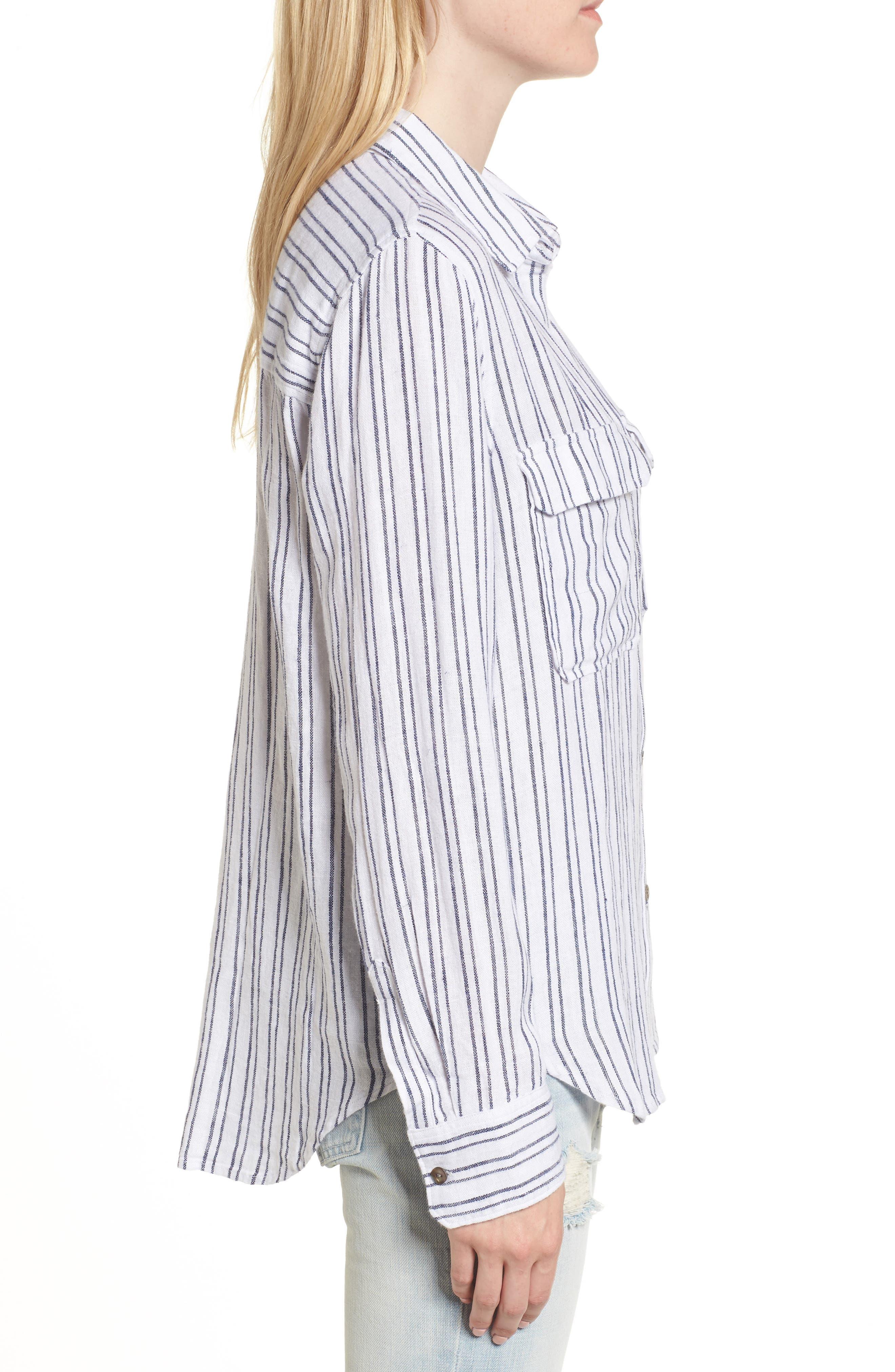 Jimi Stripe Shirt,                             Alternate thumbnail 3, color,
