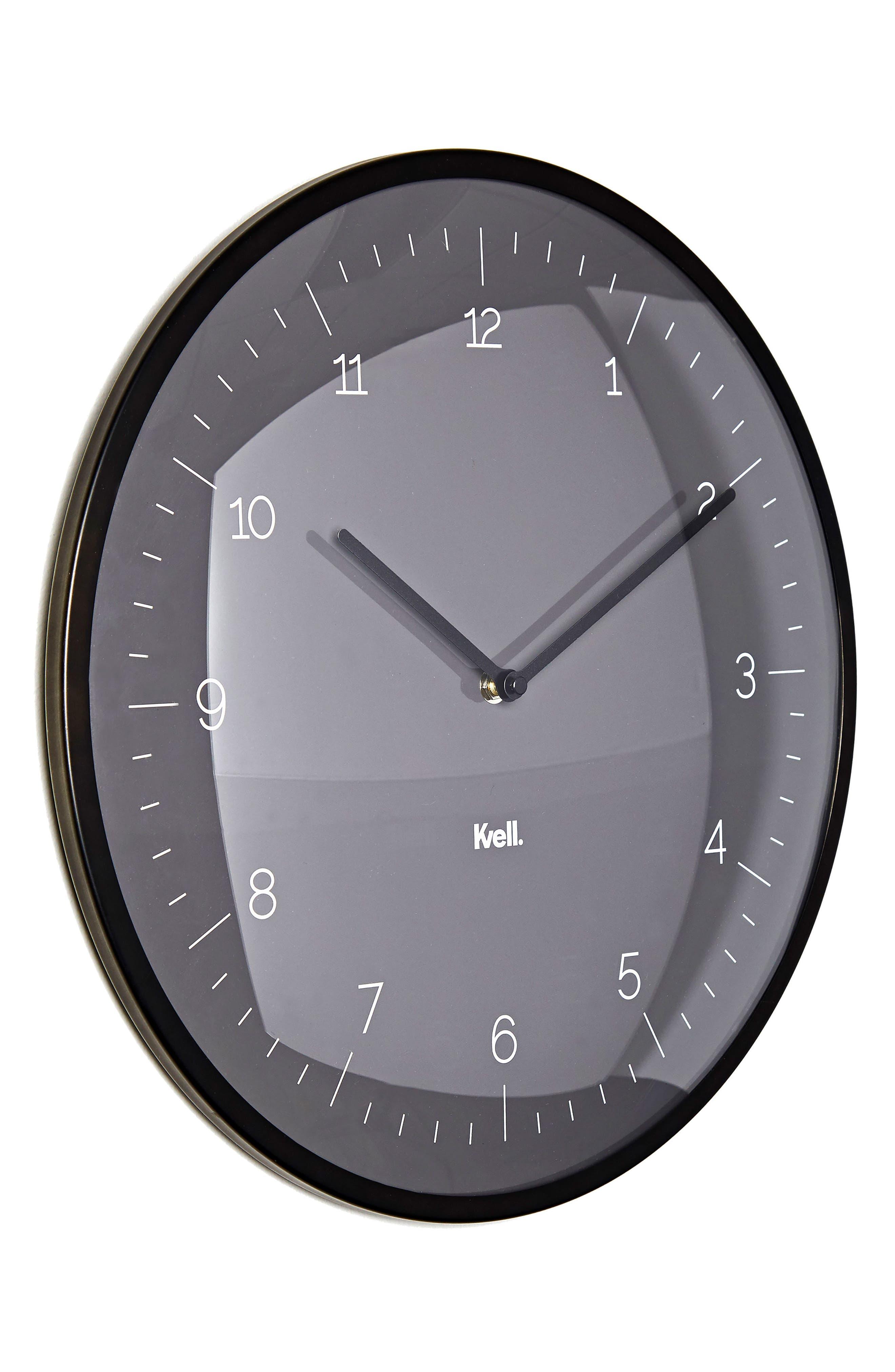 KVELL,                             Domo Wall Clock,                             Main thumbnail 1, color,                             020