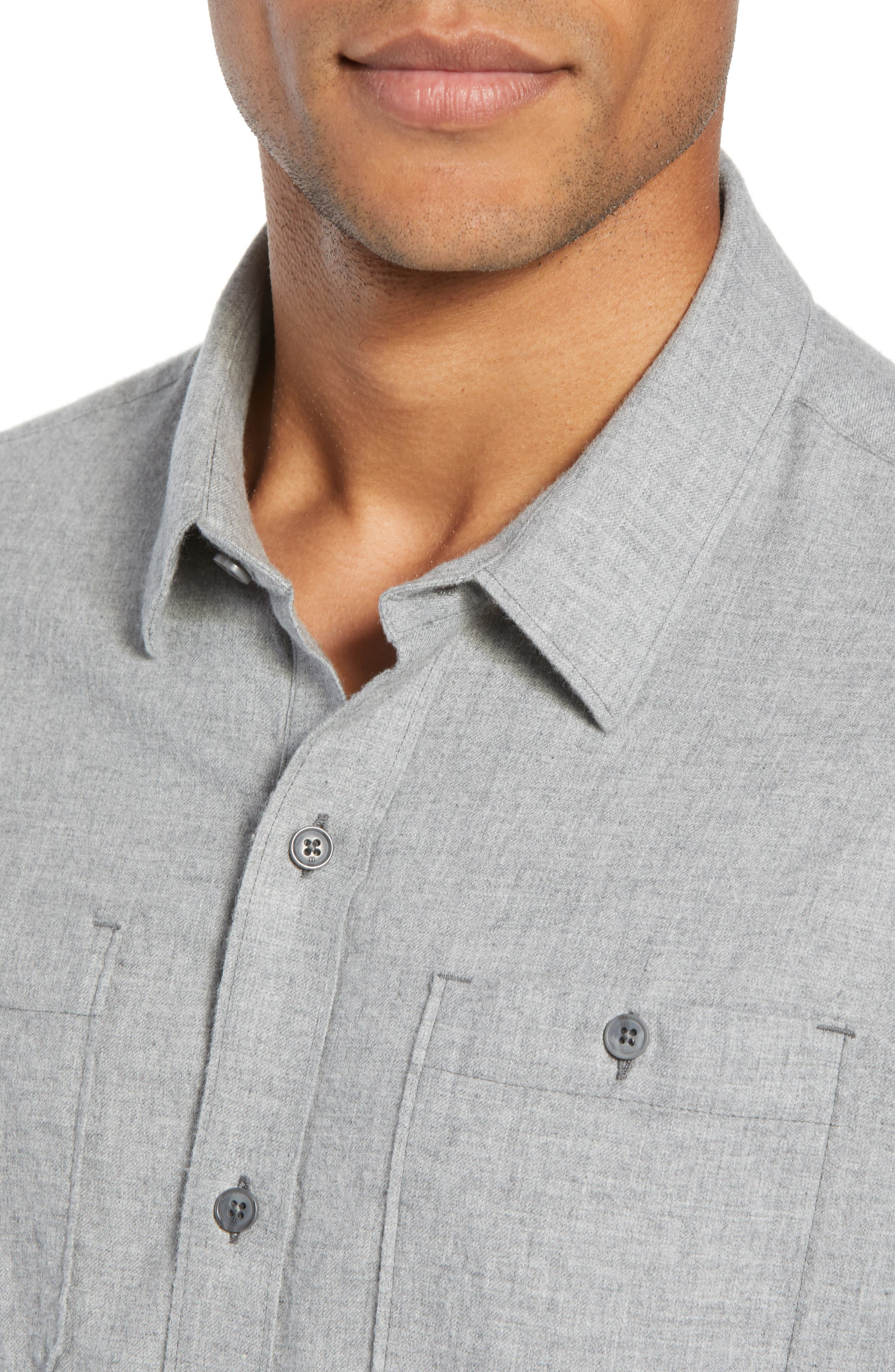 Hefe Regular Fit Flannel Sport Shirt,                             Alternate thumbnail 2, color,                             GREY QUITE SHADE