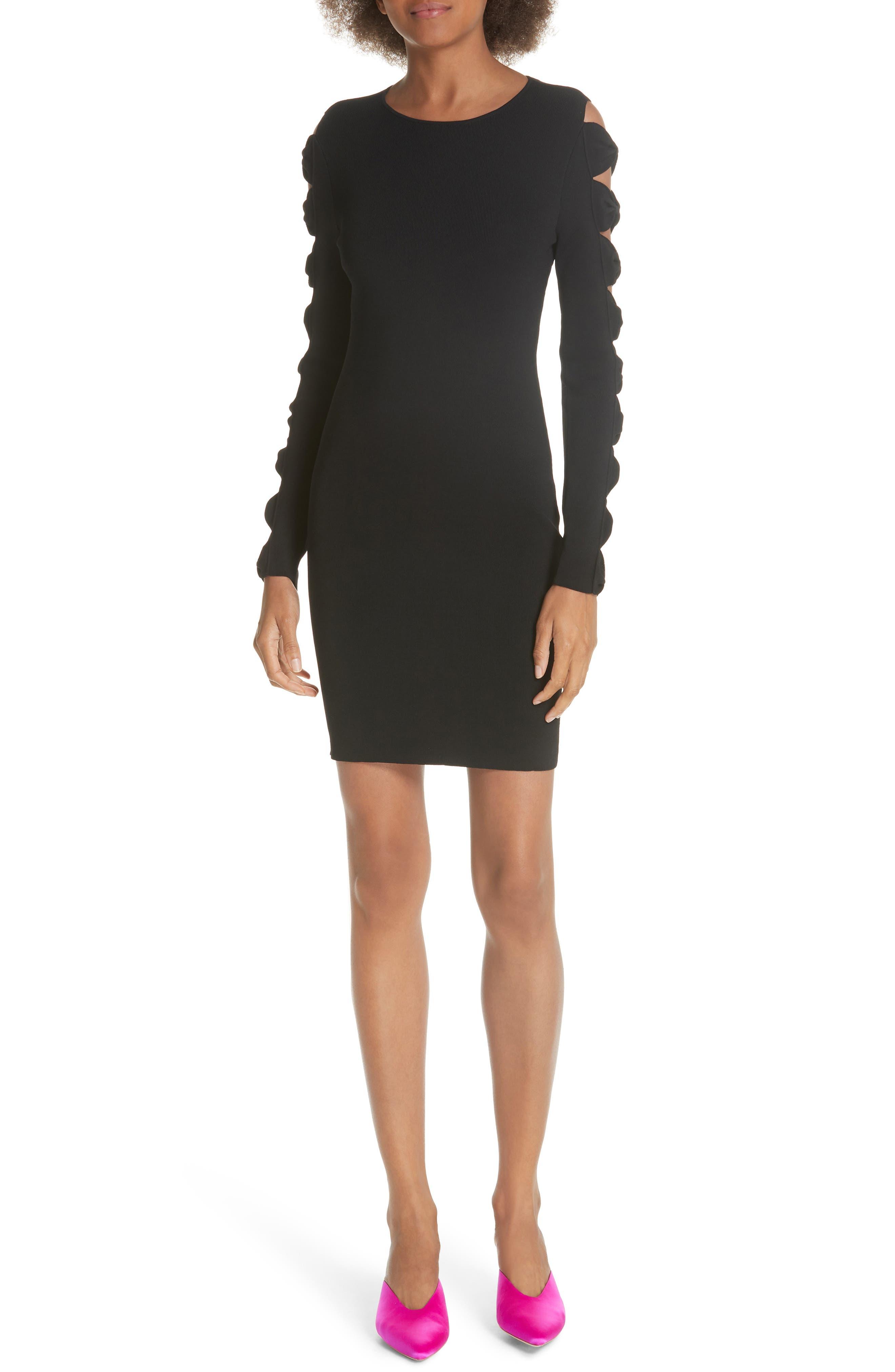 Ted Baker London Jayney Bow Sleeve Knit Dress, Black