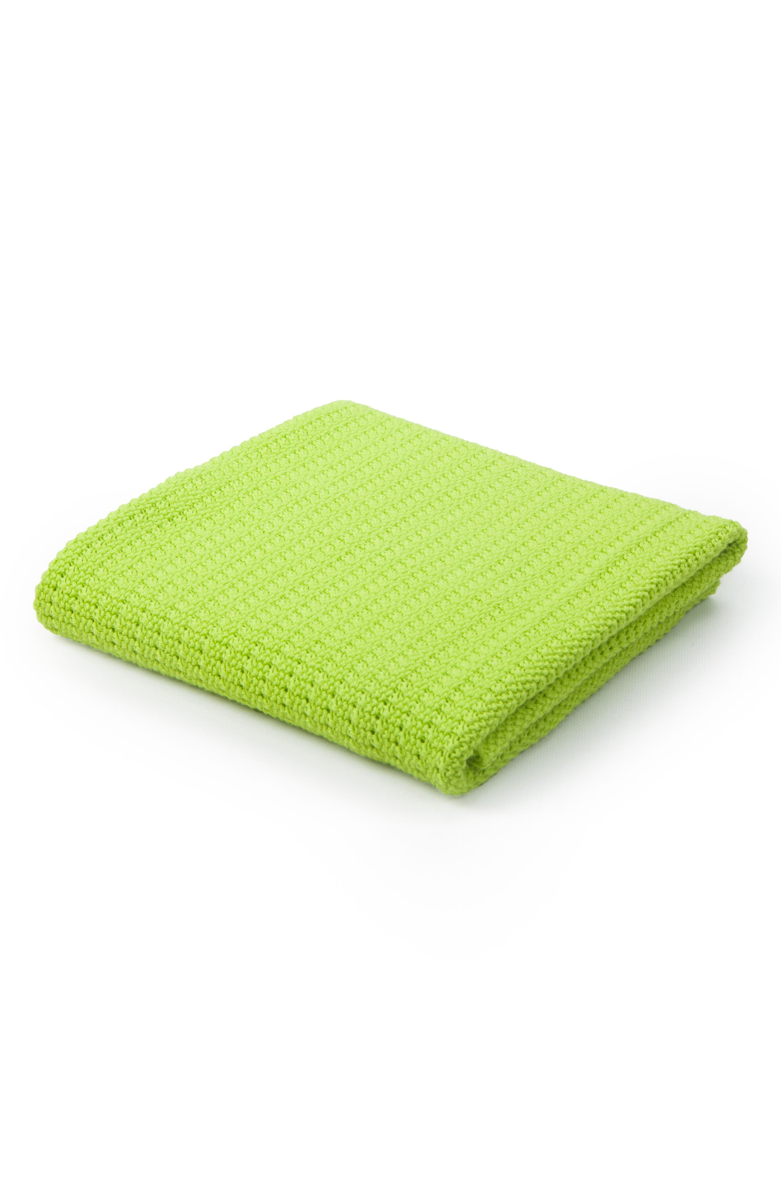 Cellular Cotton Baby Blanket,                             Main thumbnail 2, color,