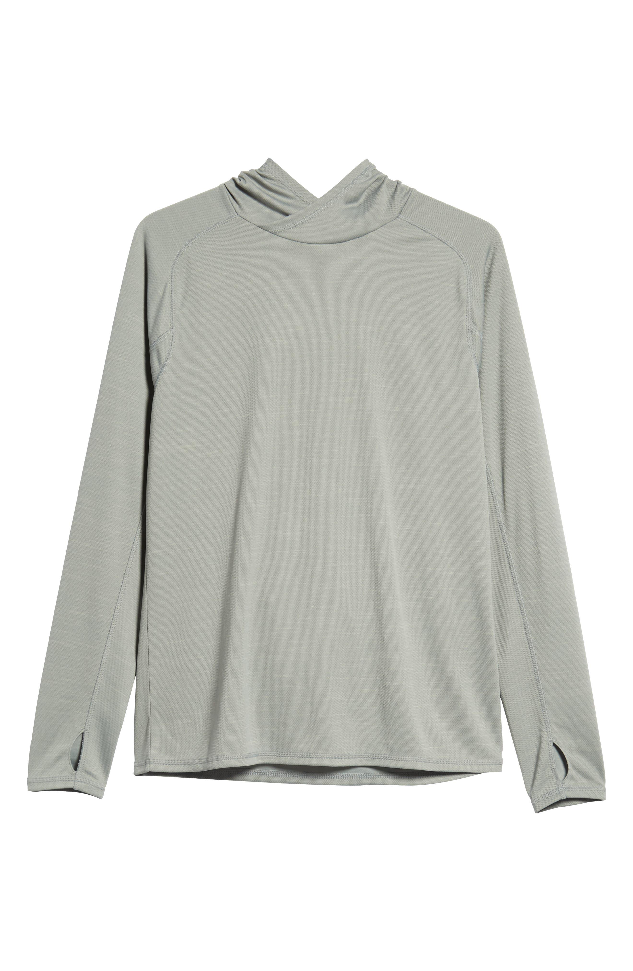 Hooded Pullover,                             Alternate thumbnail 6, color,                             GREY ZIRCON SPACEDYE