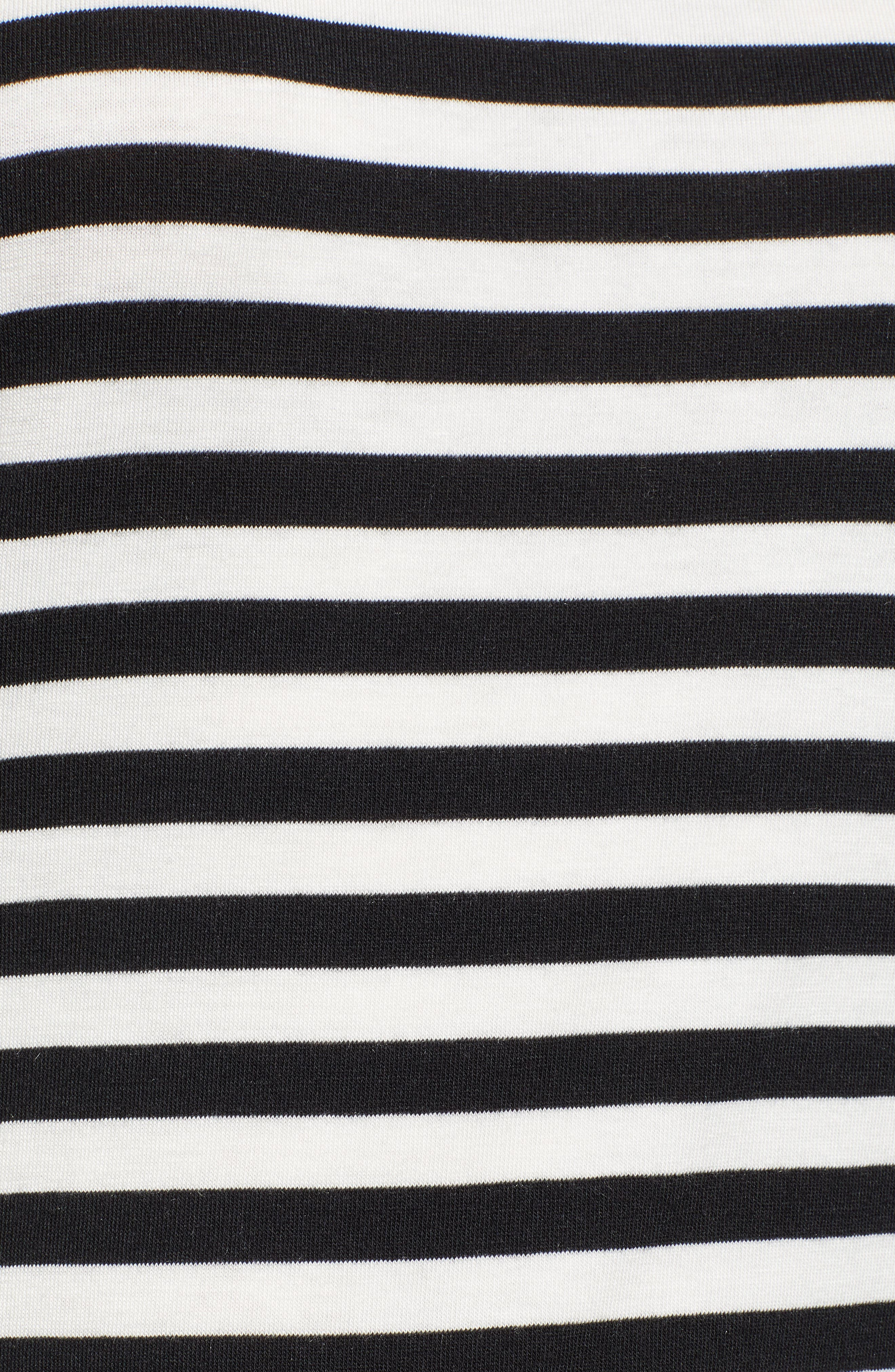 Stripe Jersey Turtleneck,                             Alternate thumbnail 5, color,                             002