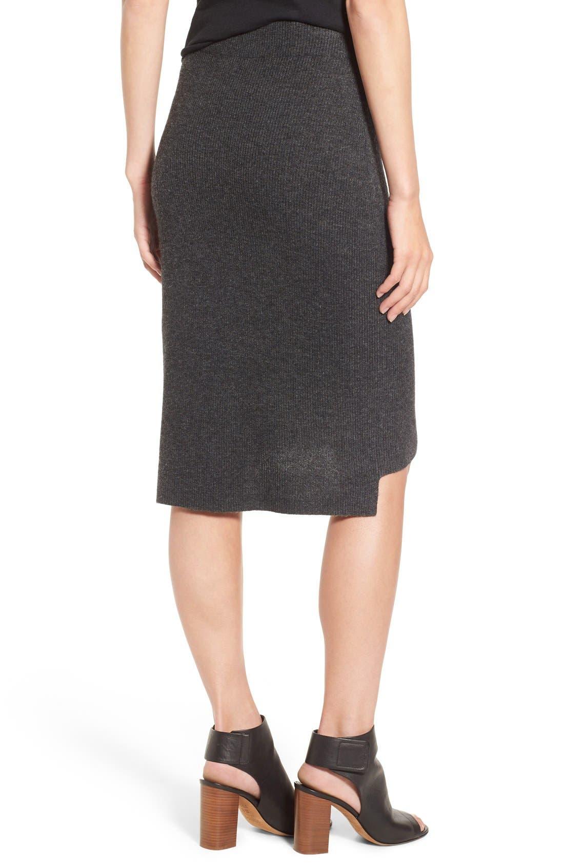 Rib Knit Sweater Skirt,                             Alternate thumbnail 3, color,                             030