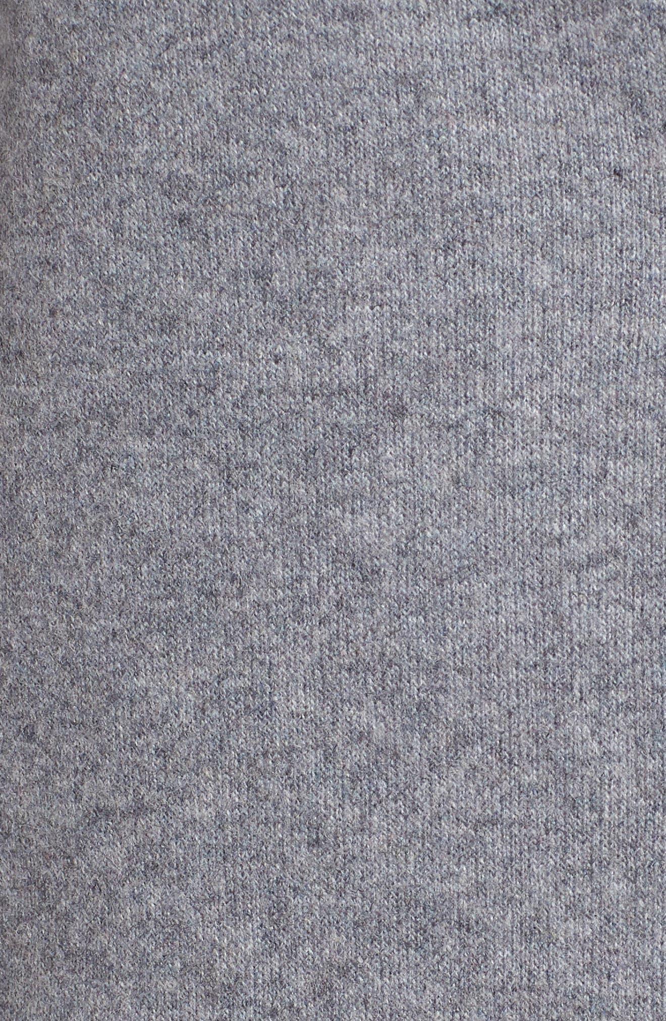 Envelope Collar Wool Blend Knit Coat,                             Alternate thumbnail 7, color,                             LIGHT GREY