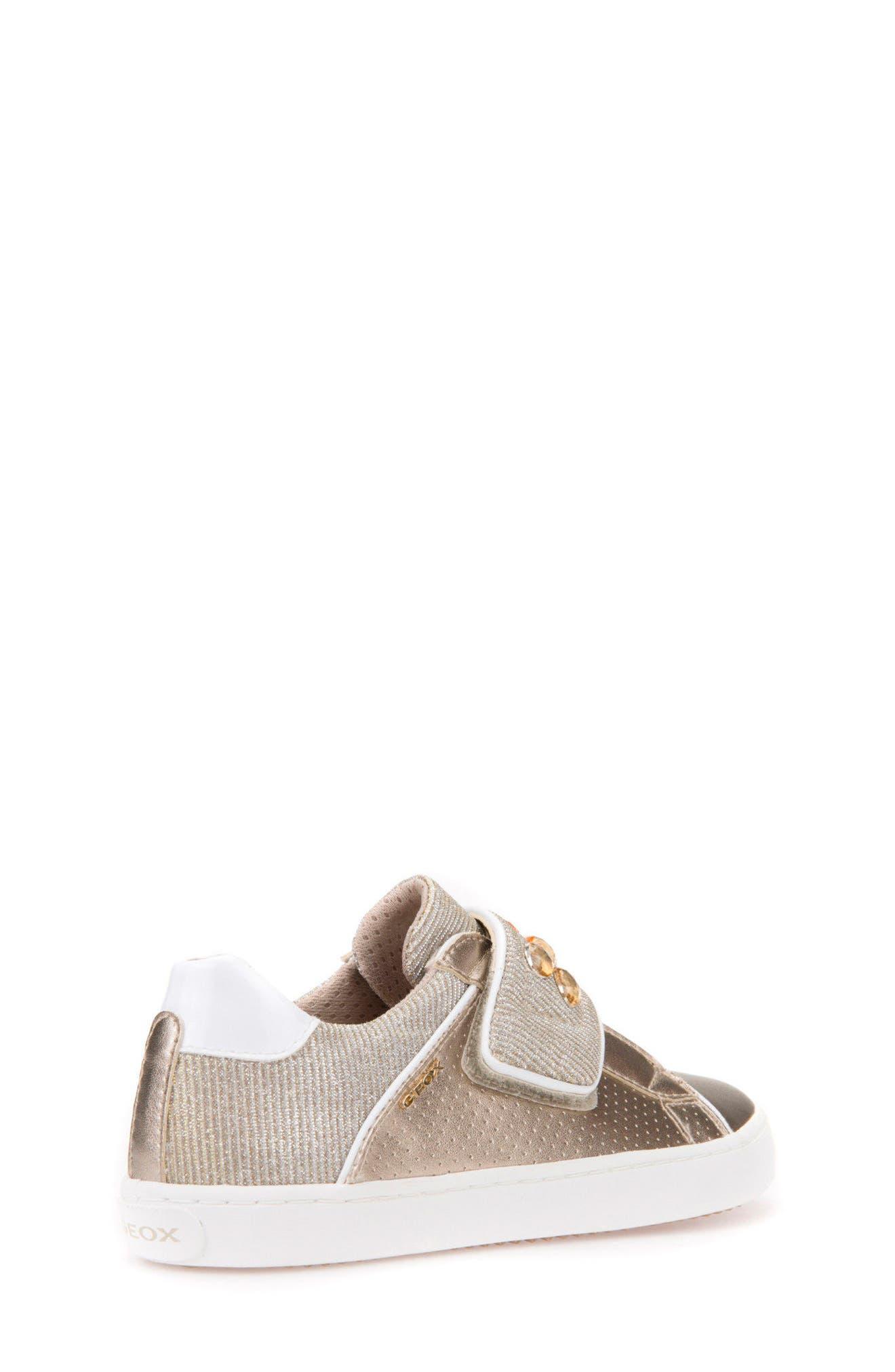 Kilwi Metallic Embellished Sneaker,                             Alternate thumbnail 2, color,                             GOLD