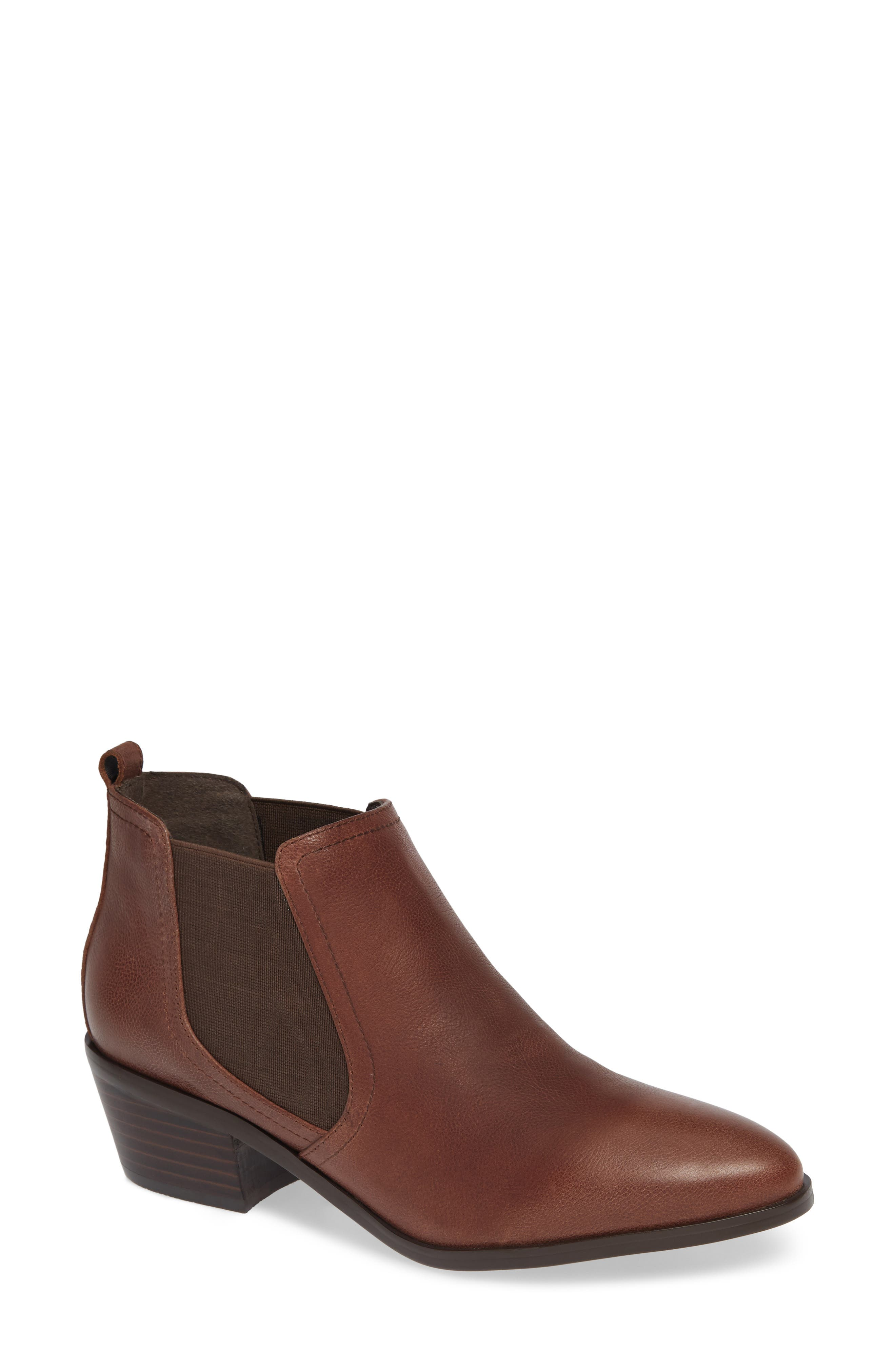 Maxie Chelsea Boot,                             Main thumbnail 1, color,                             LUGGAGE LEATHER