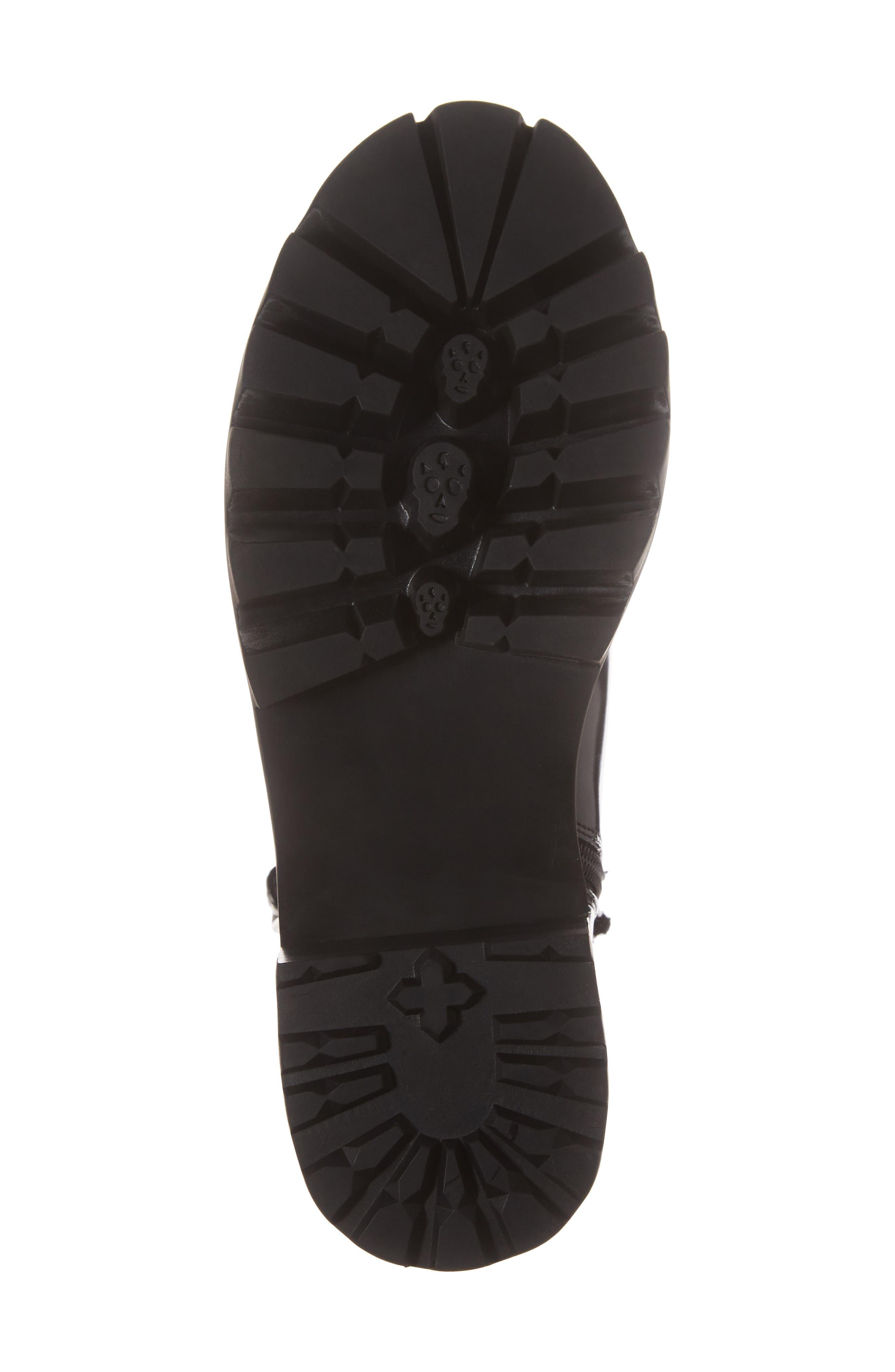 Czech Lace-Up Boot,                             Alternate thumbnail 6, color,                             BLACK PATENT LEATHER
