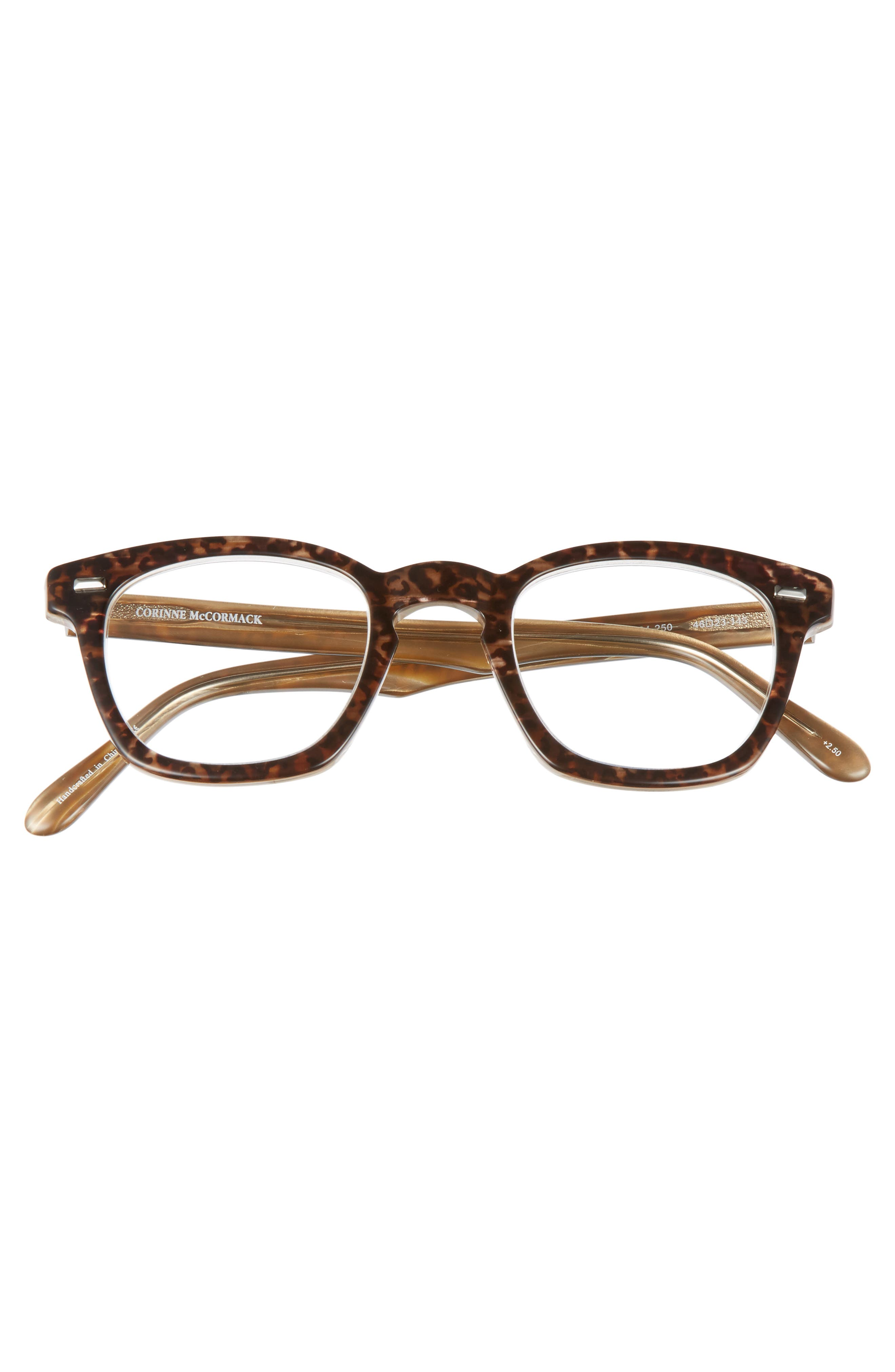 'Annie' 46mm Reading Glasses,                             Alternate thumbnail 3, color,                             BROWN