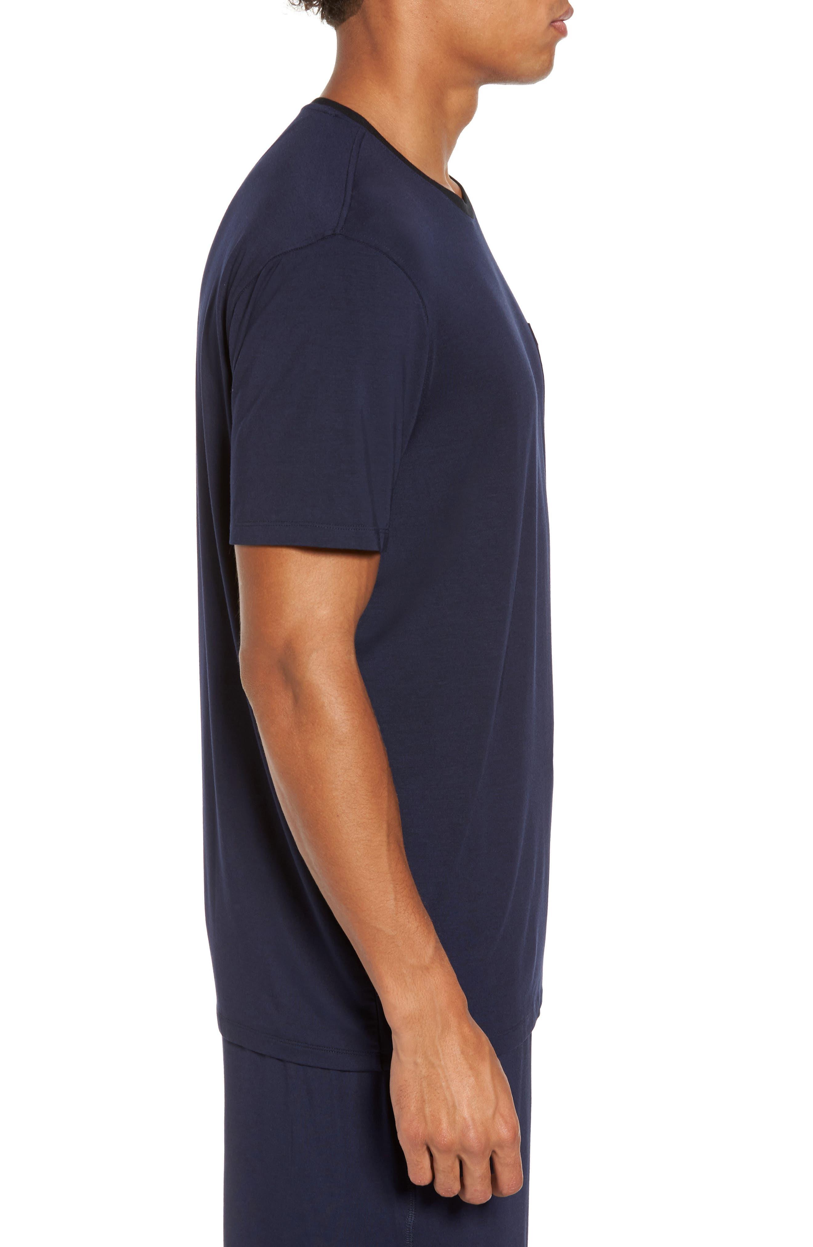 Modal & Silk Pocket T-Shirt,                             Alternate thumbnail 3, color,                             411