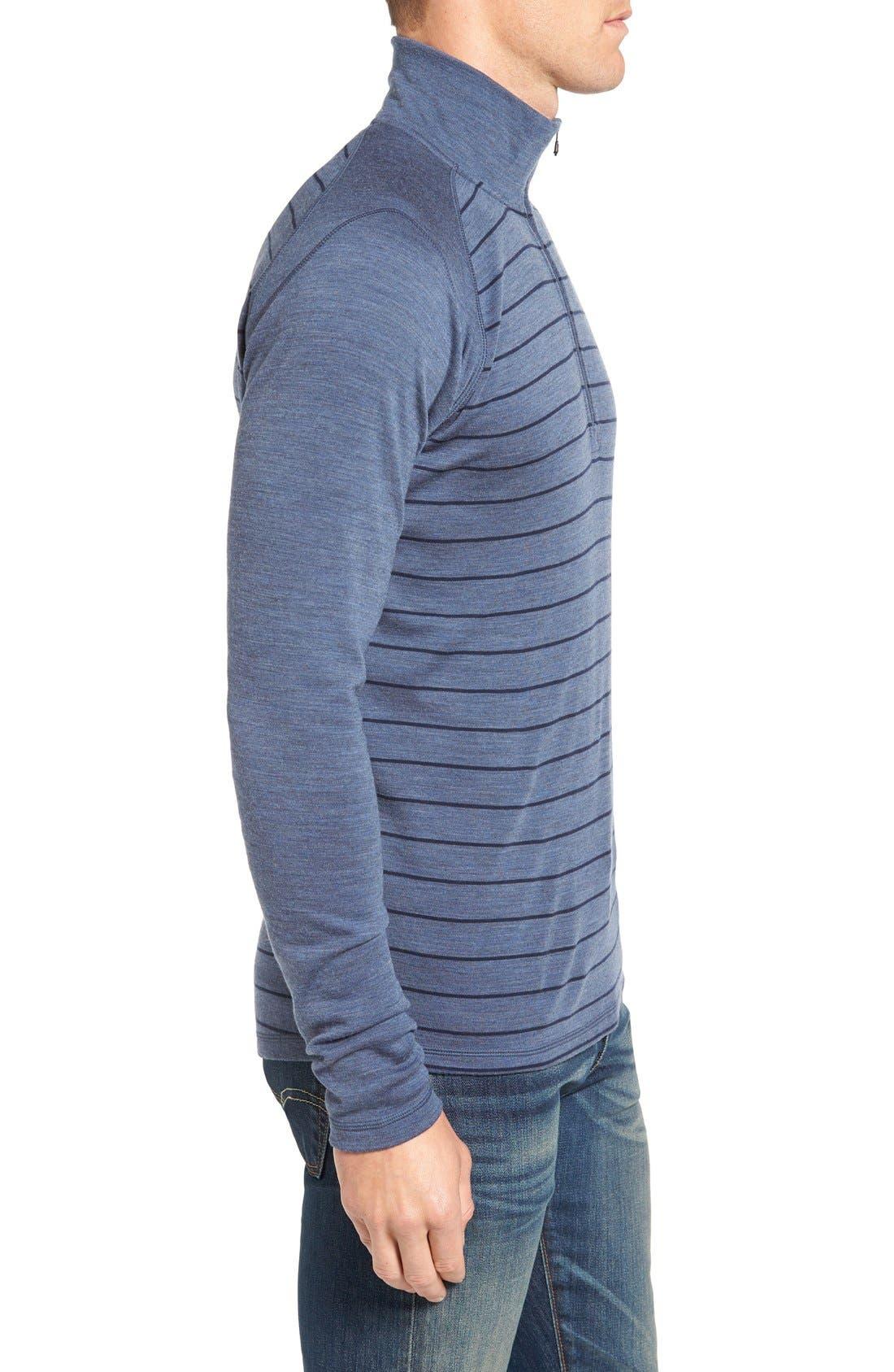 Merino 250 Base Layer Pattern Quarter Zip Pullover,                             Alternate thumbnail 15, color,