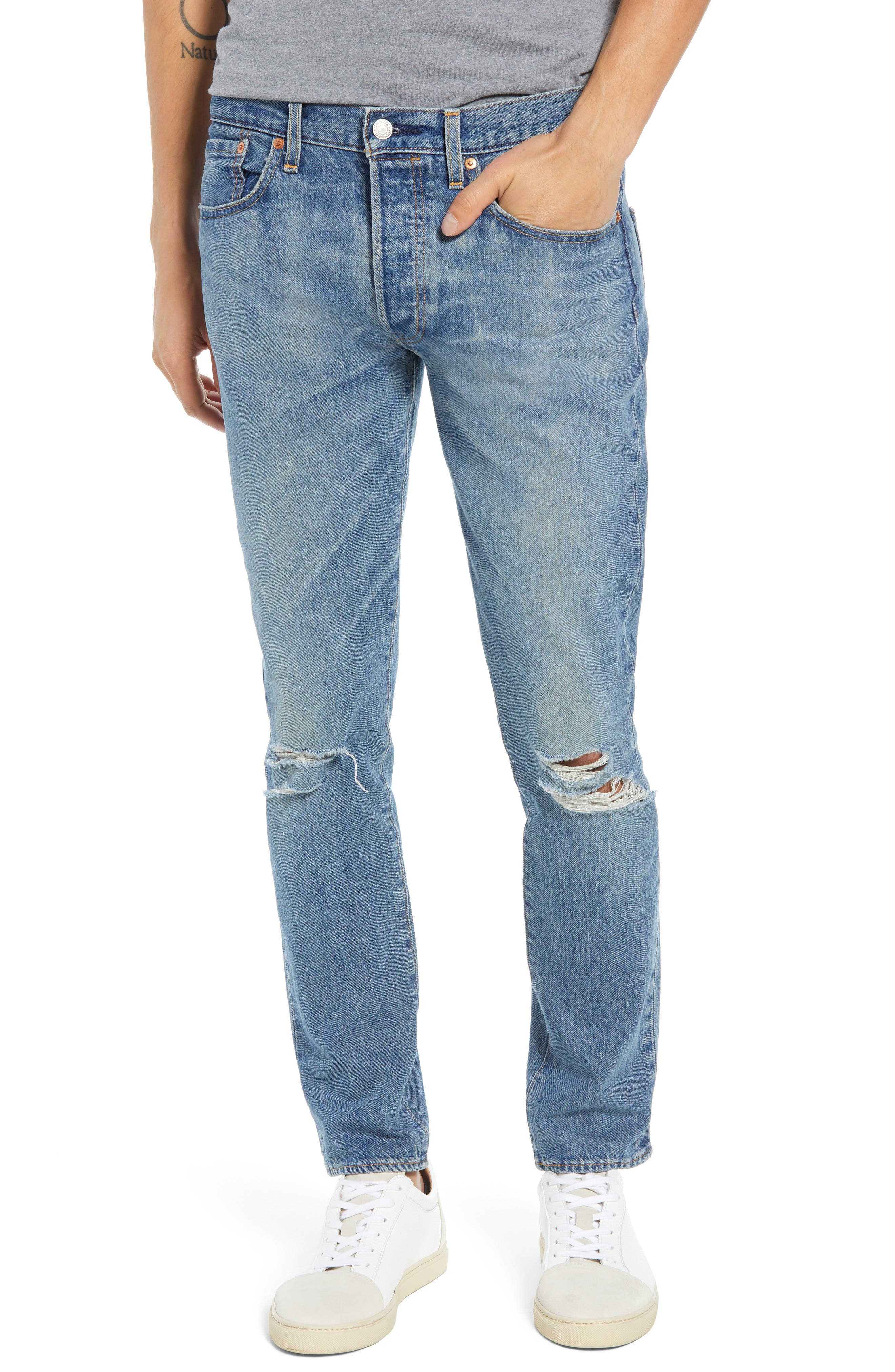 501<sup>™</sup> Slim Fit Jeans,                         Main,                         color, SINGLE PAYER WARP