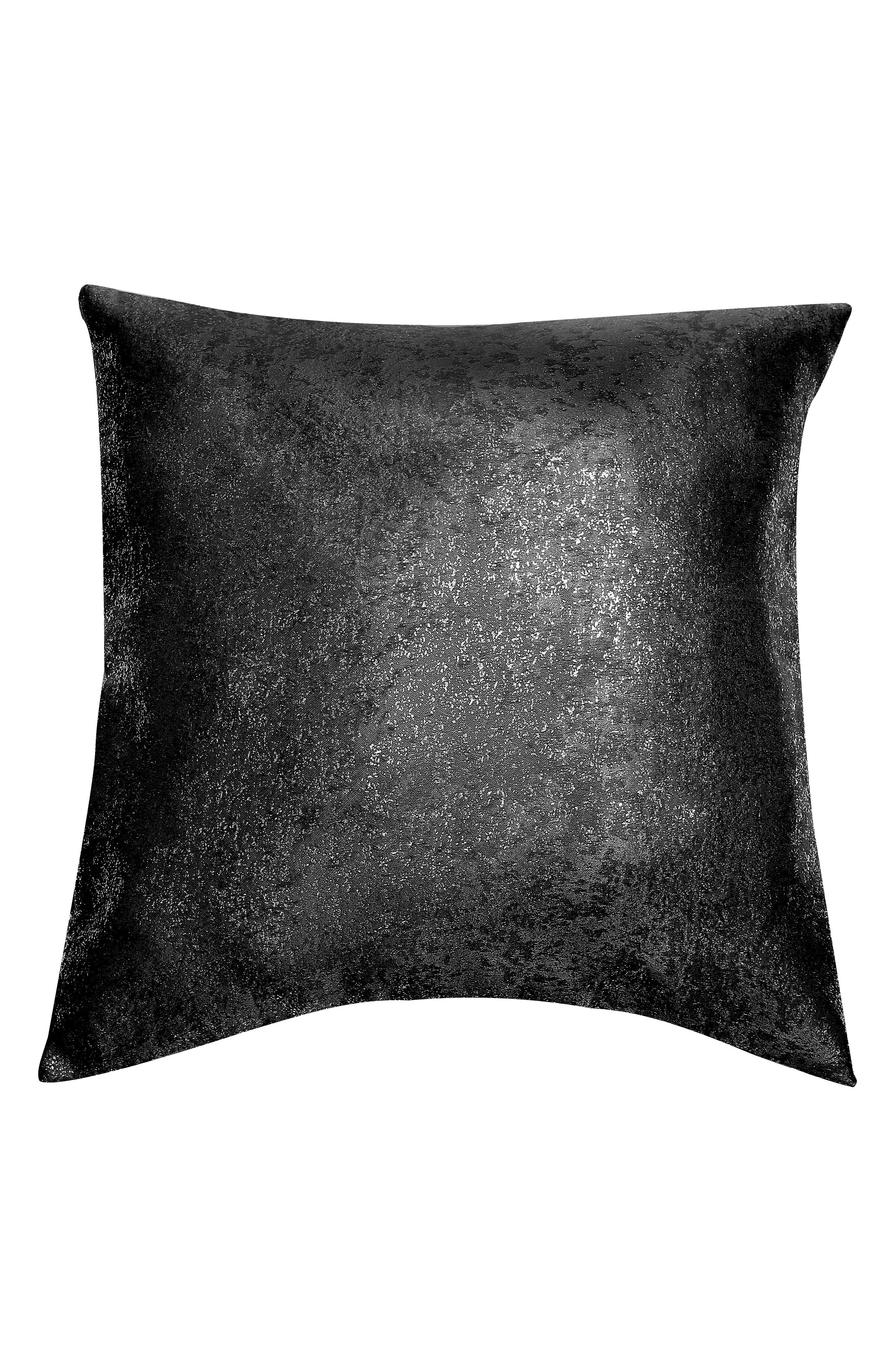 Maddie Accent Pillow,                         Main,                         color, BLACK
