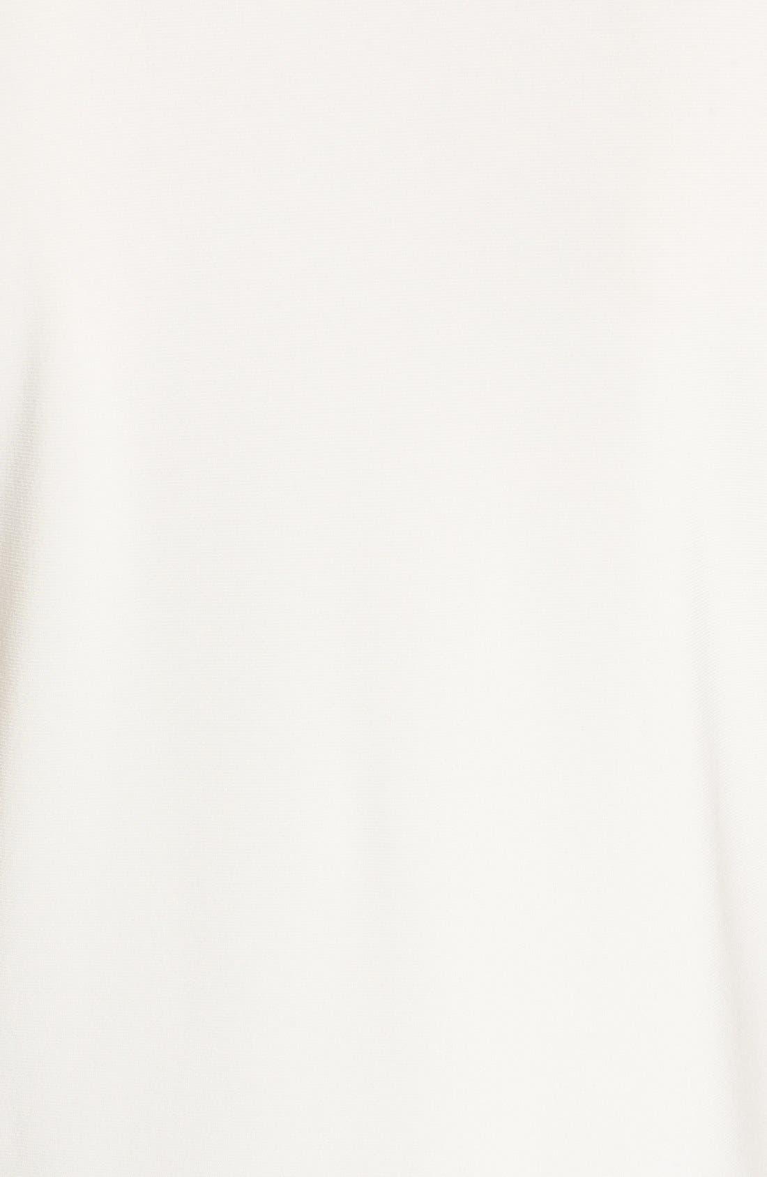 Triple Pleat V-Neck Jersey Top,                             Alternate thumbnail 2, color,                             WHITE