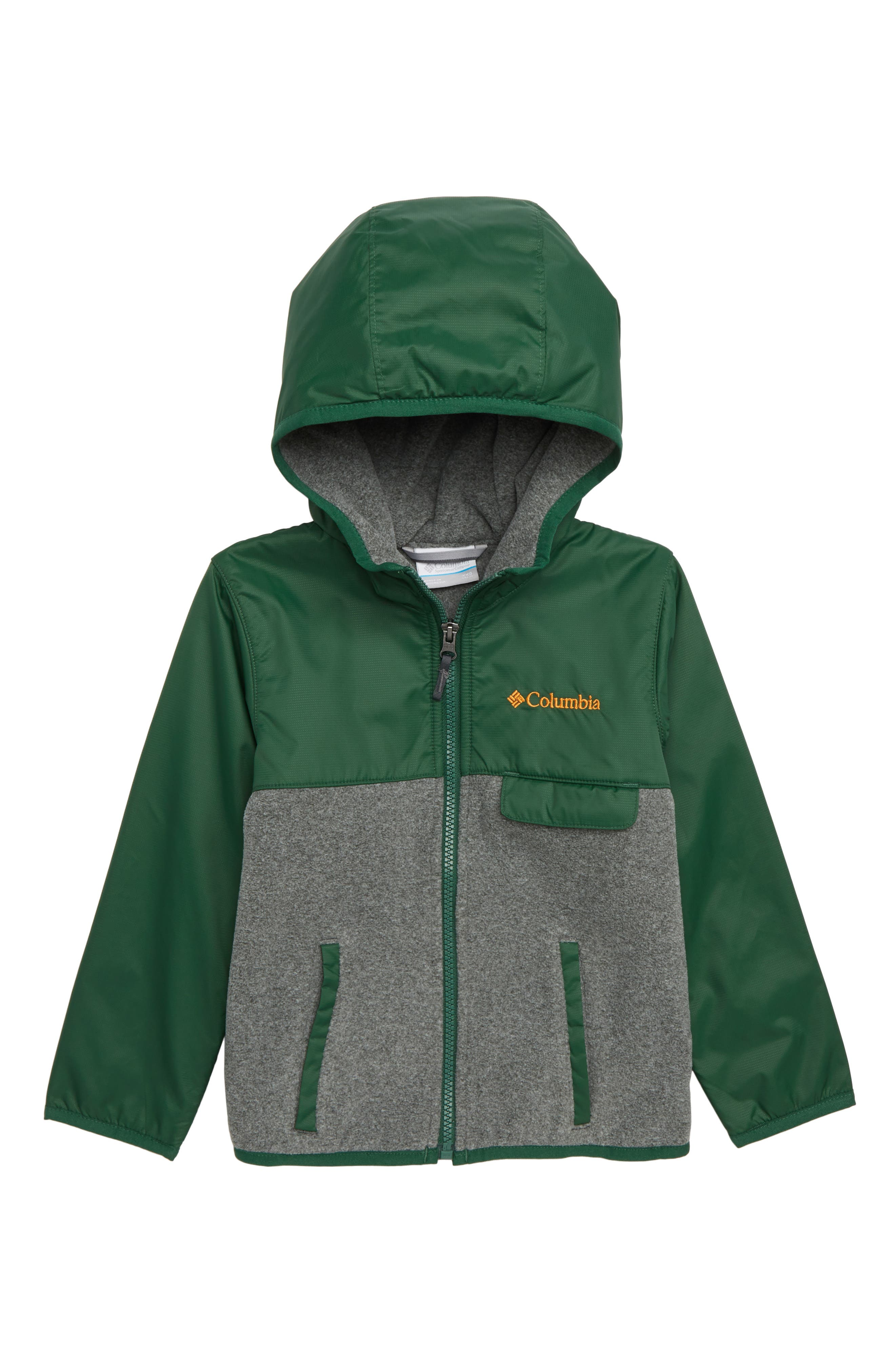 Mountain Side<sup>™</sup> Fleece Jacket, Main, color, FOREST GRILL HEATHER