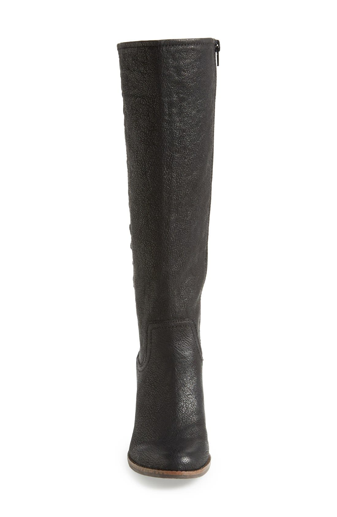 'Yacie' Leather Wedge Boot,                             Alternate thumbnail 2, color,                             002