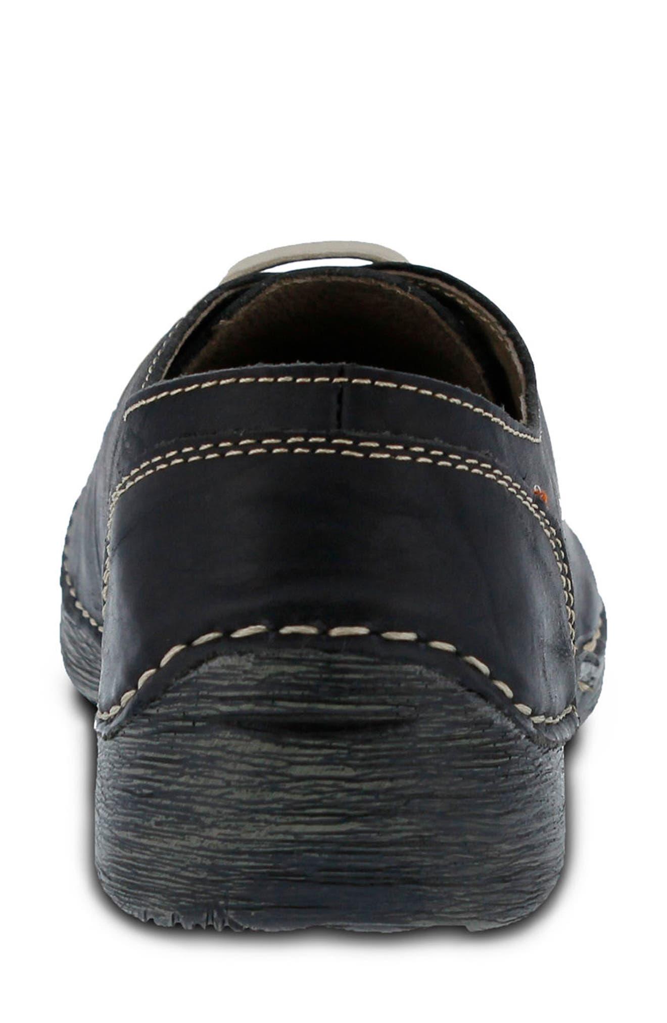 Carhop Sneaker,                             Alternate thumbnail 6, color,                             BLACK LEATHER