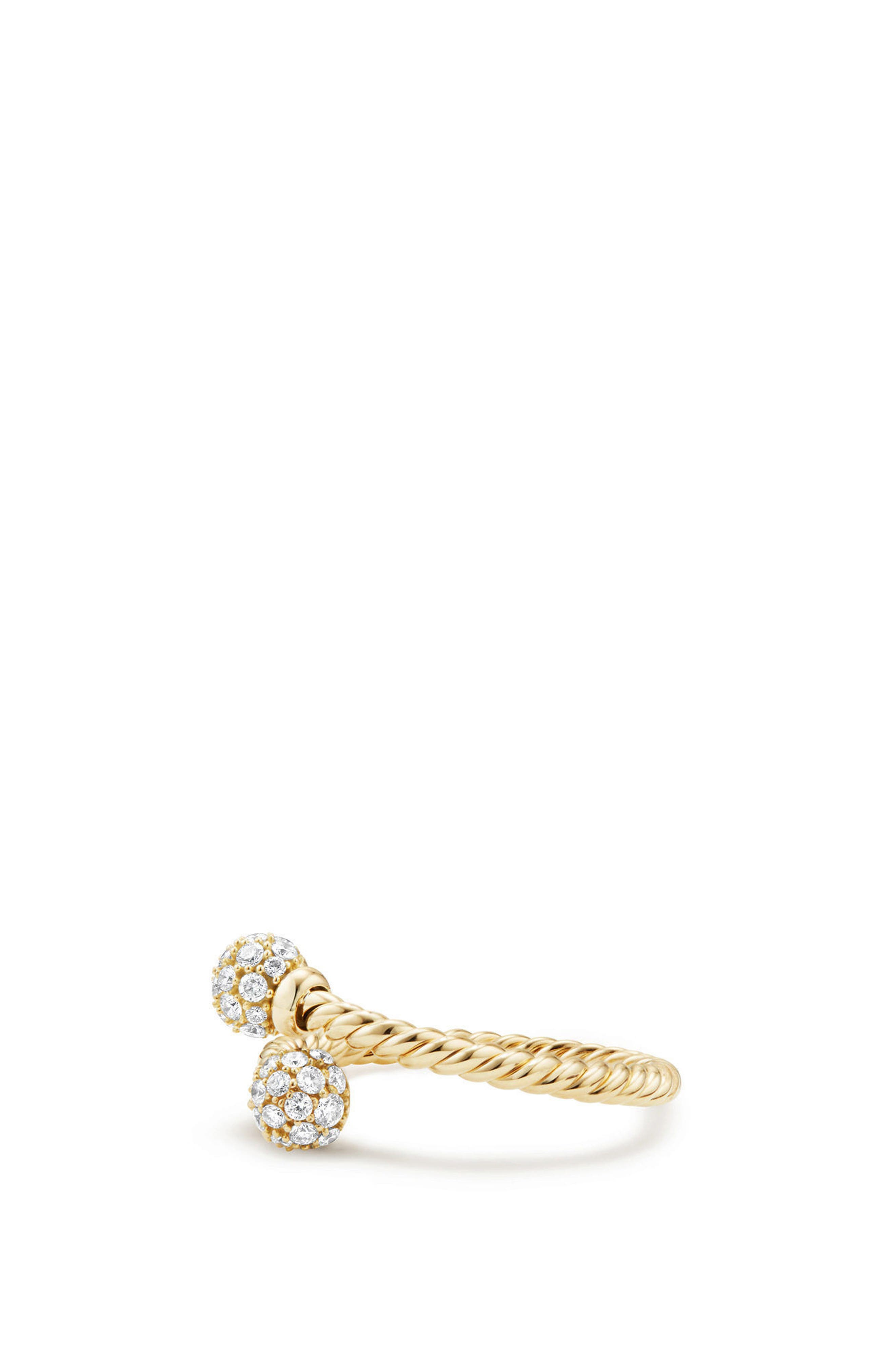 Petite Solari Bypass Ring with Diamonds in 18K Gold,                             Alternate thumbnail 2, color,                             YELLOW GOLD/ DIAMOND