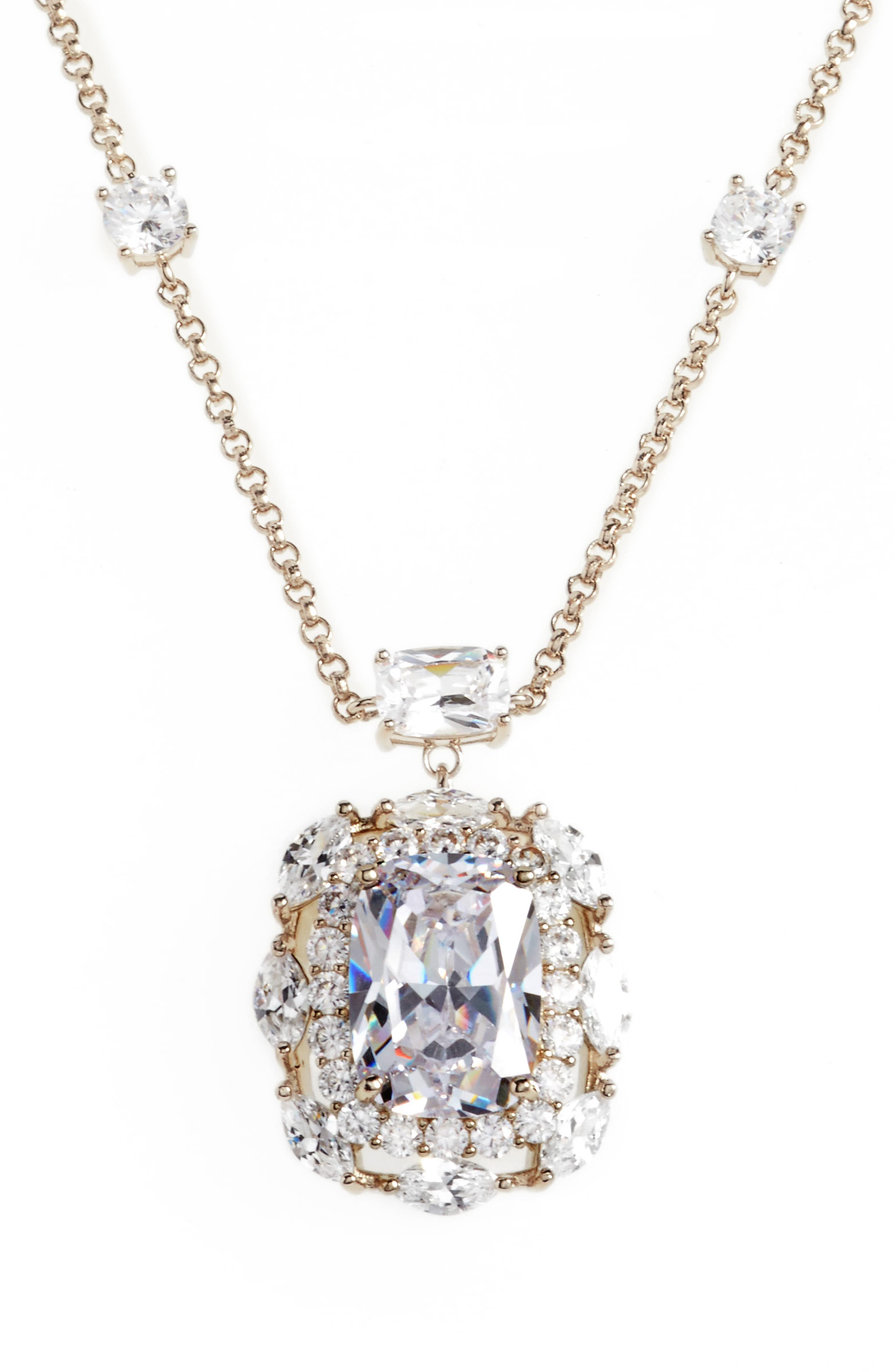 Crystal Pendant Necklace,                             Main thumbnail 1, color,                             040