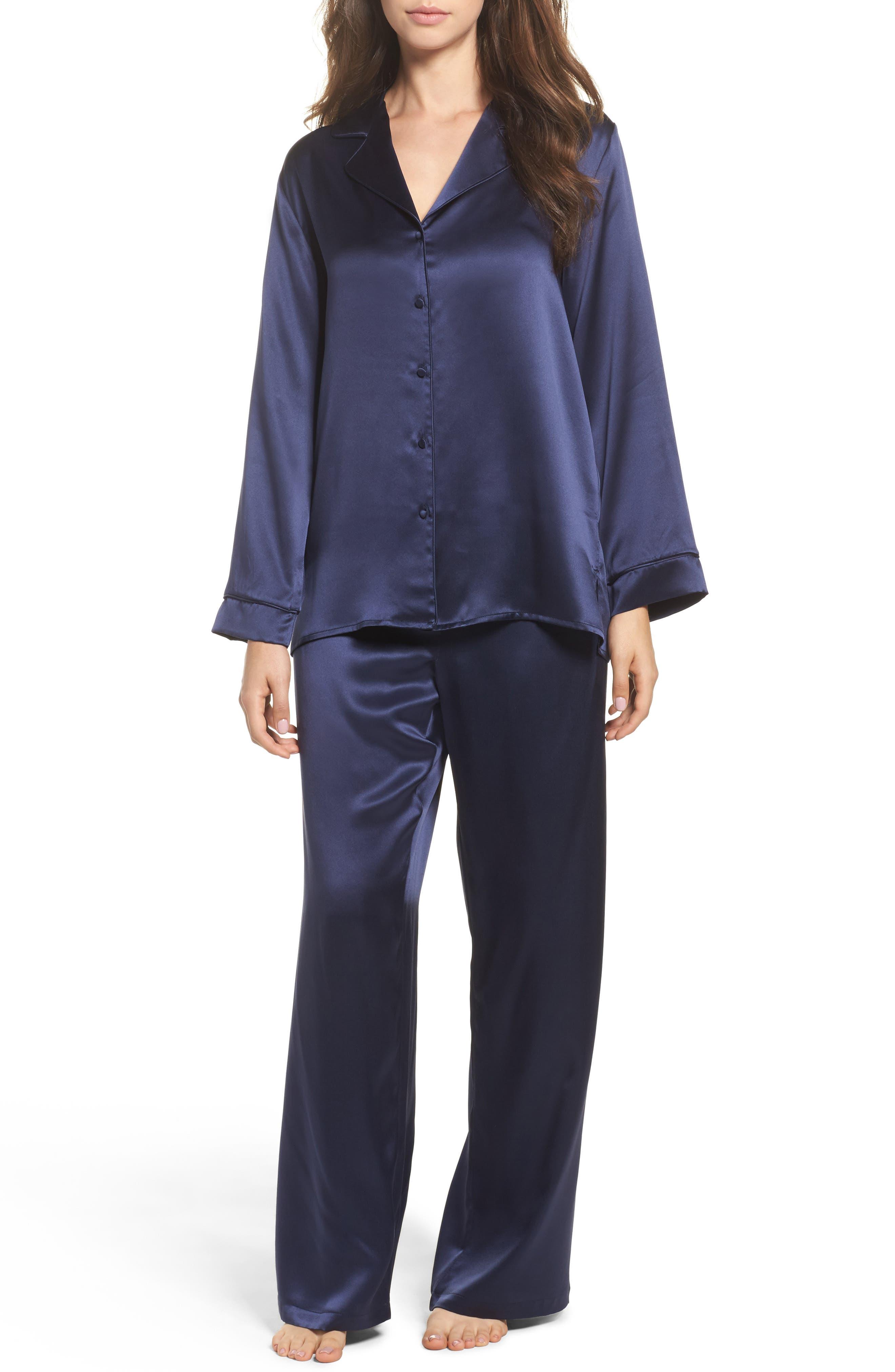 Silk Pajamas,                             Main thumbnail 1, color,                             410