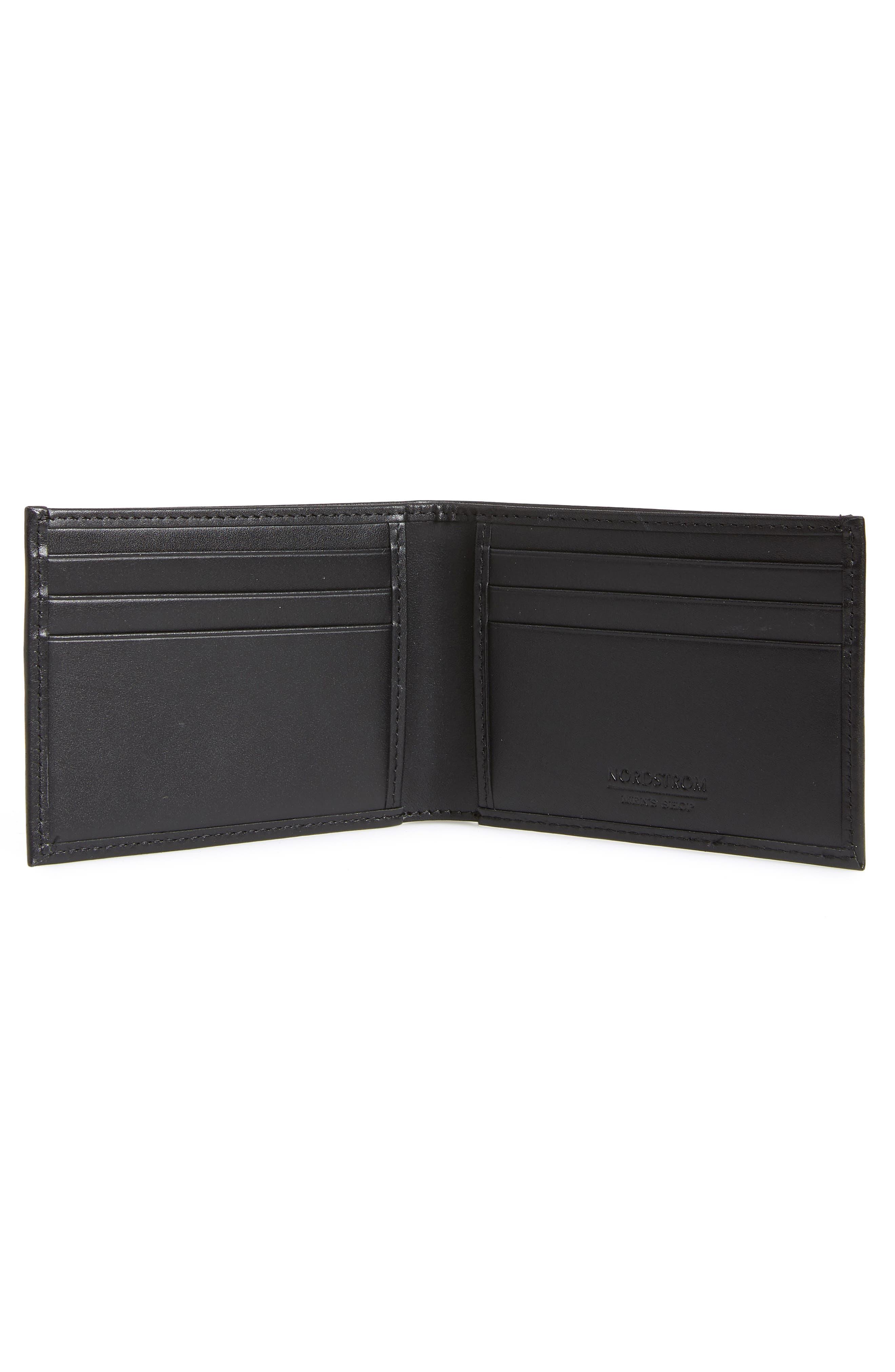 Chelsea Leather Wallet,                             Alternate thumbnail 2, color,                             BLACK
