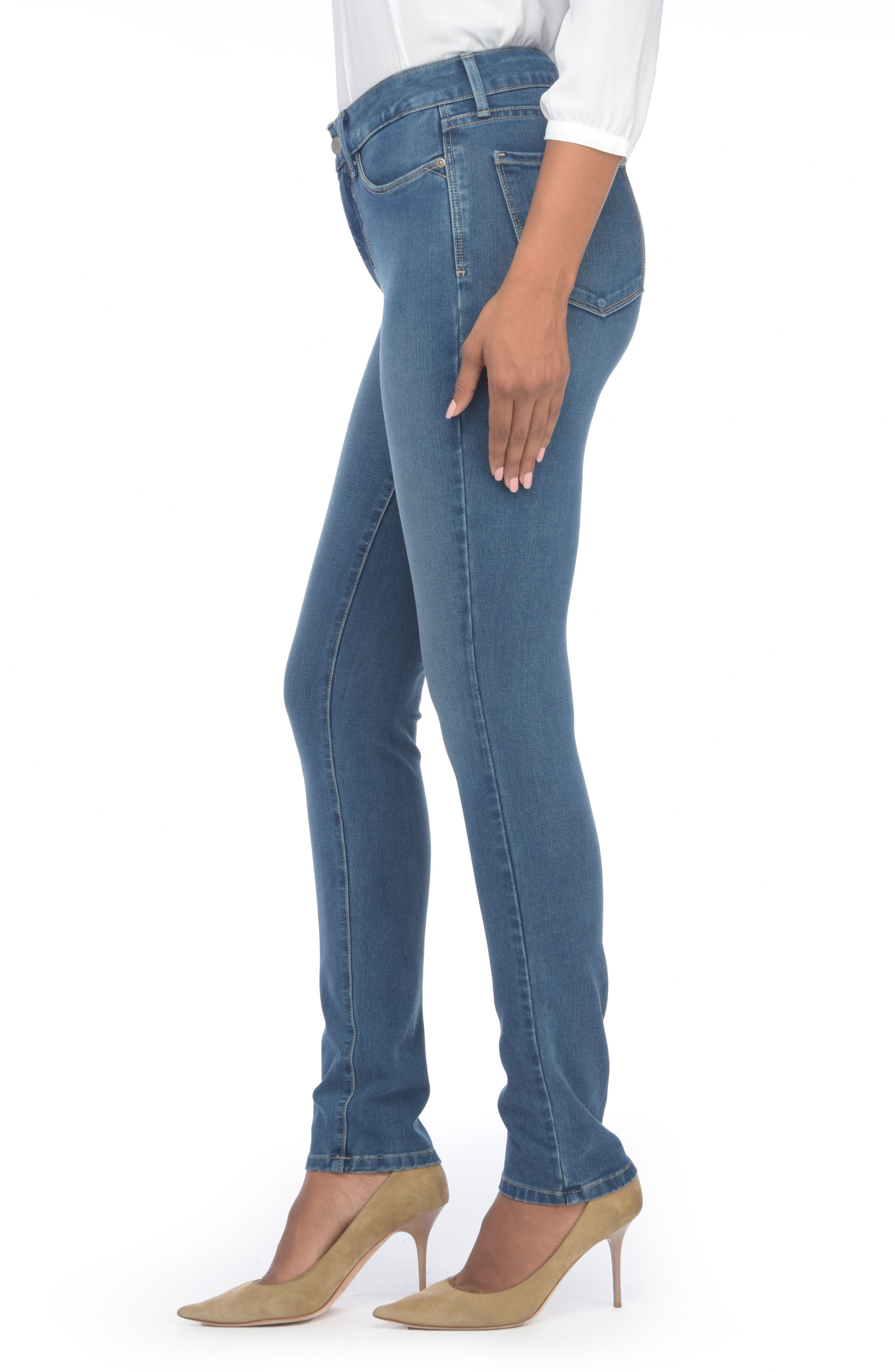 Alina Colored Stretch Skinny Jeans,                             Alternate thumbnail 114, color,