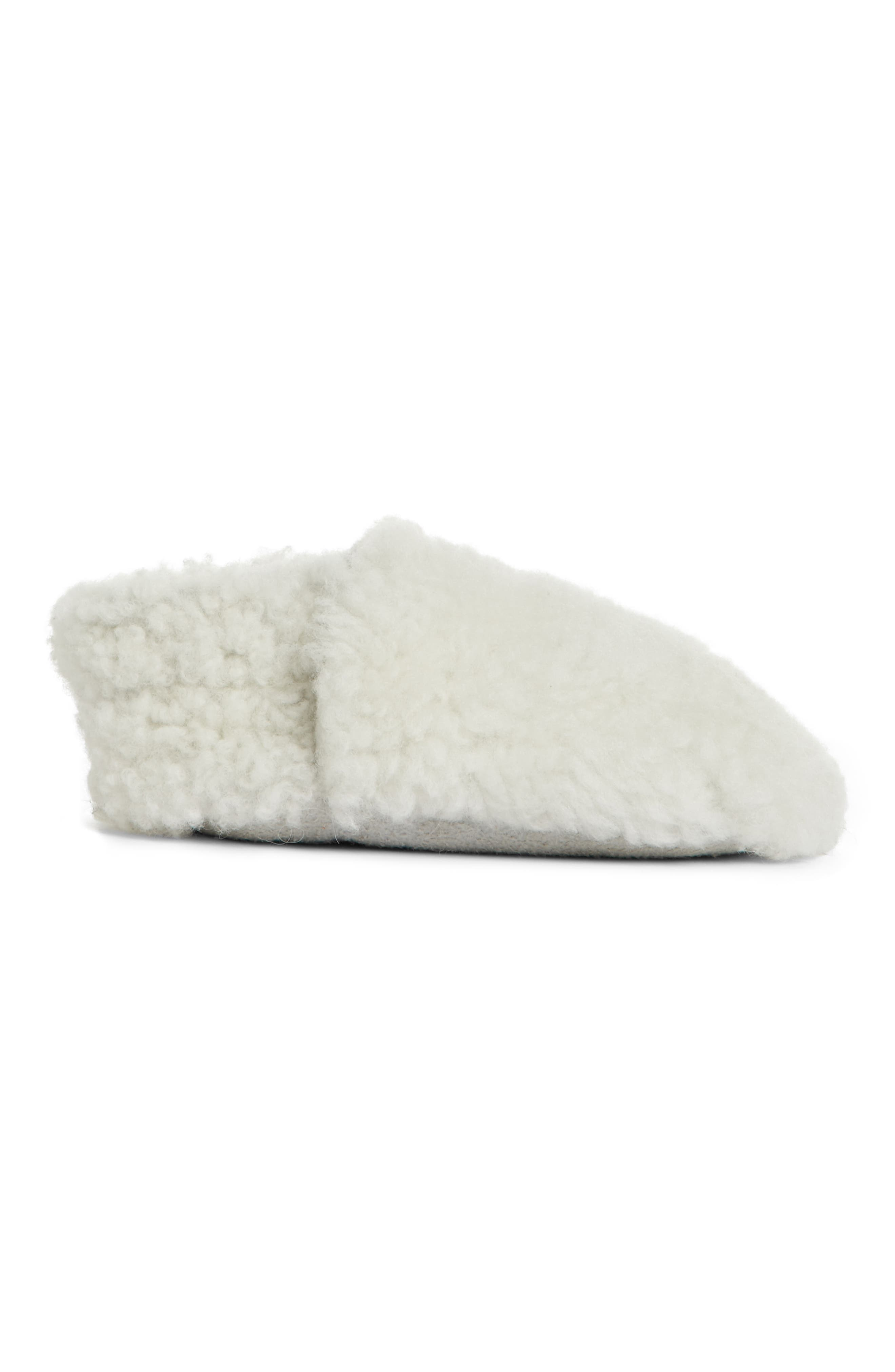Genuine Shearling Bootie,                             Alternate thumbnail 3, color,                             IVORY