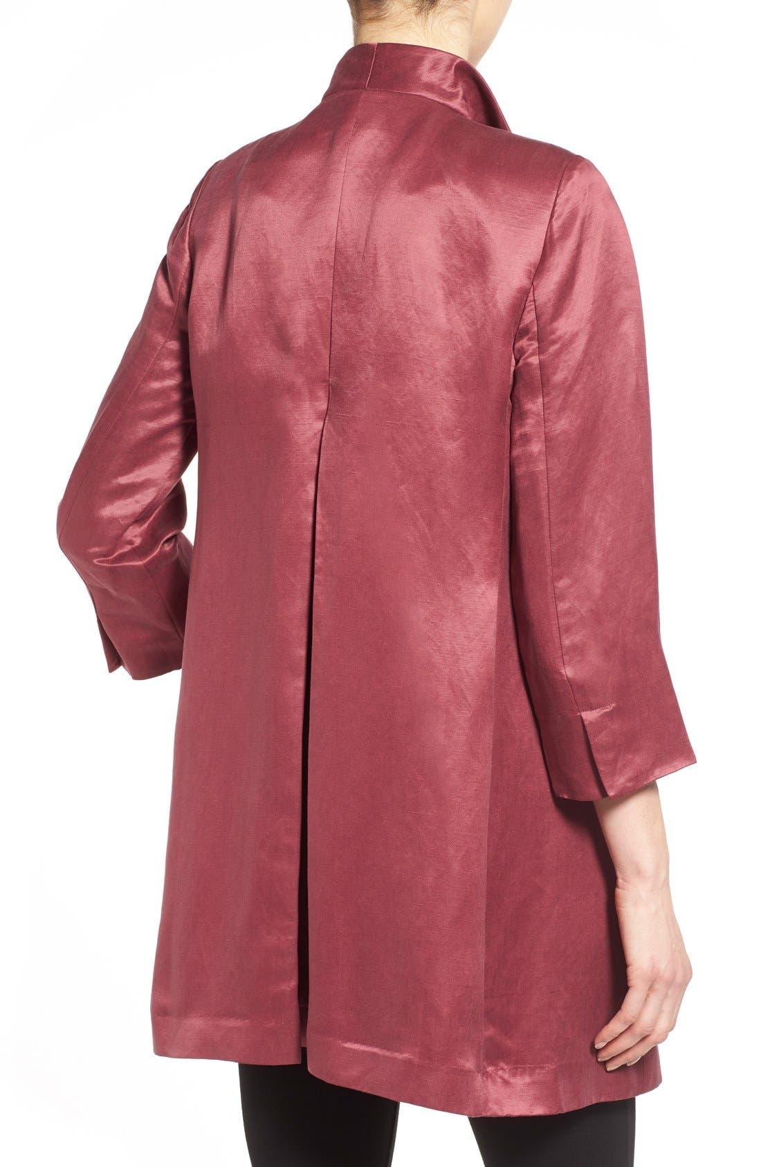 High Collar Long Jacket,                             Alternate thumbnail 21, color,