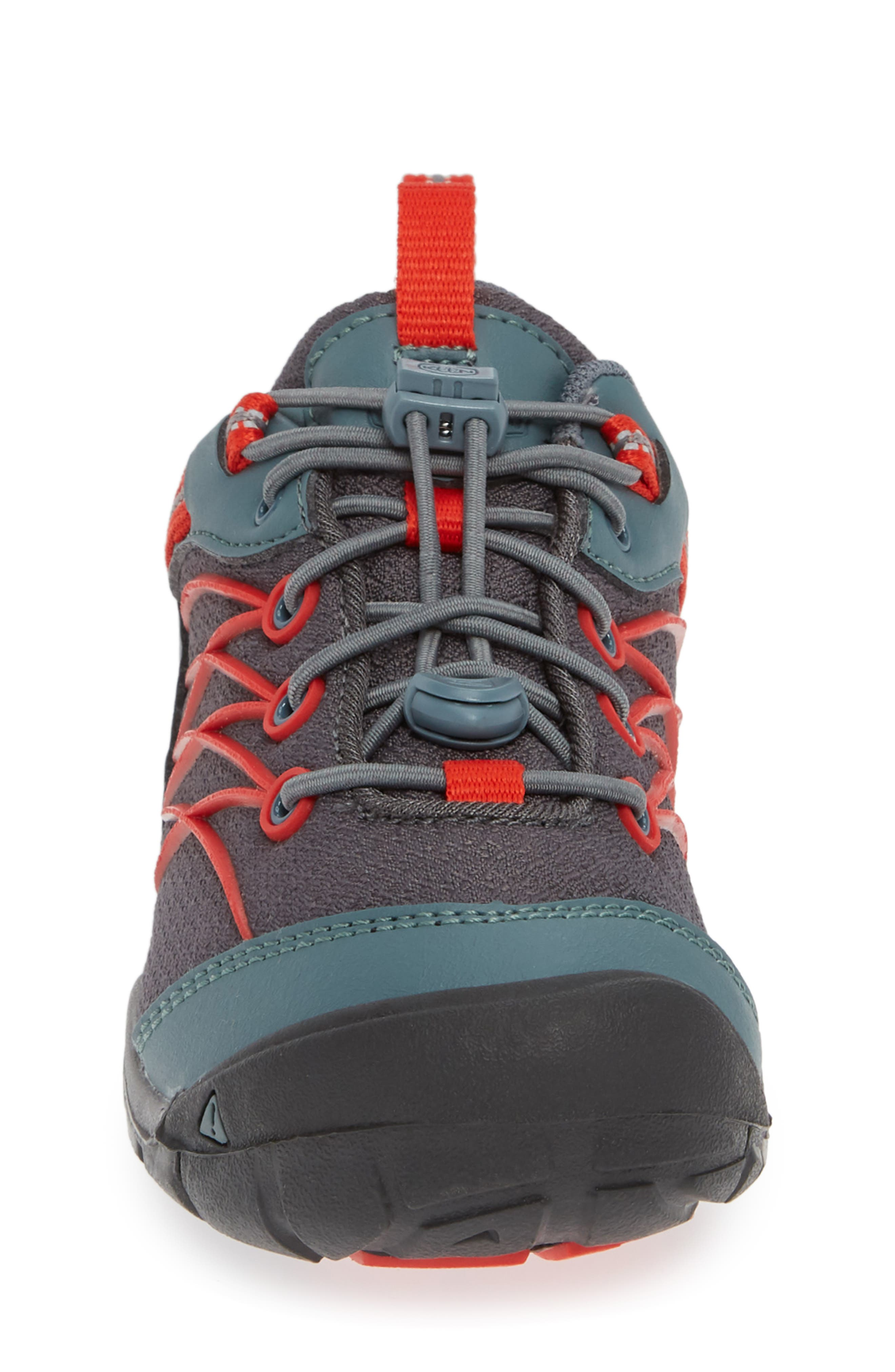 Chandler CNX Waterproof Sneaker,                             Alternate thumbnail 4, color,                             STORMY/ RED