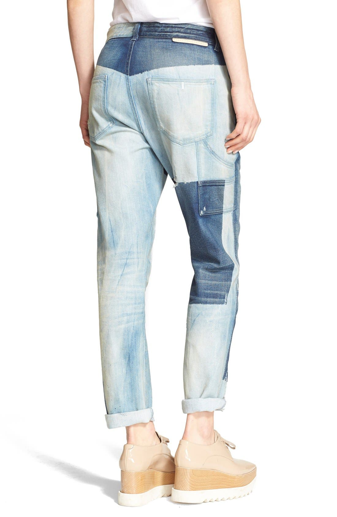 STELLA MCCARTNEY,                             'The Patchwork' Boyfriend Jeans,                             Alternate thumbnail 3, color,                             476
